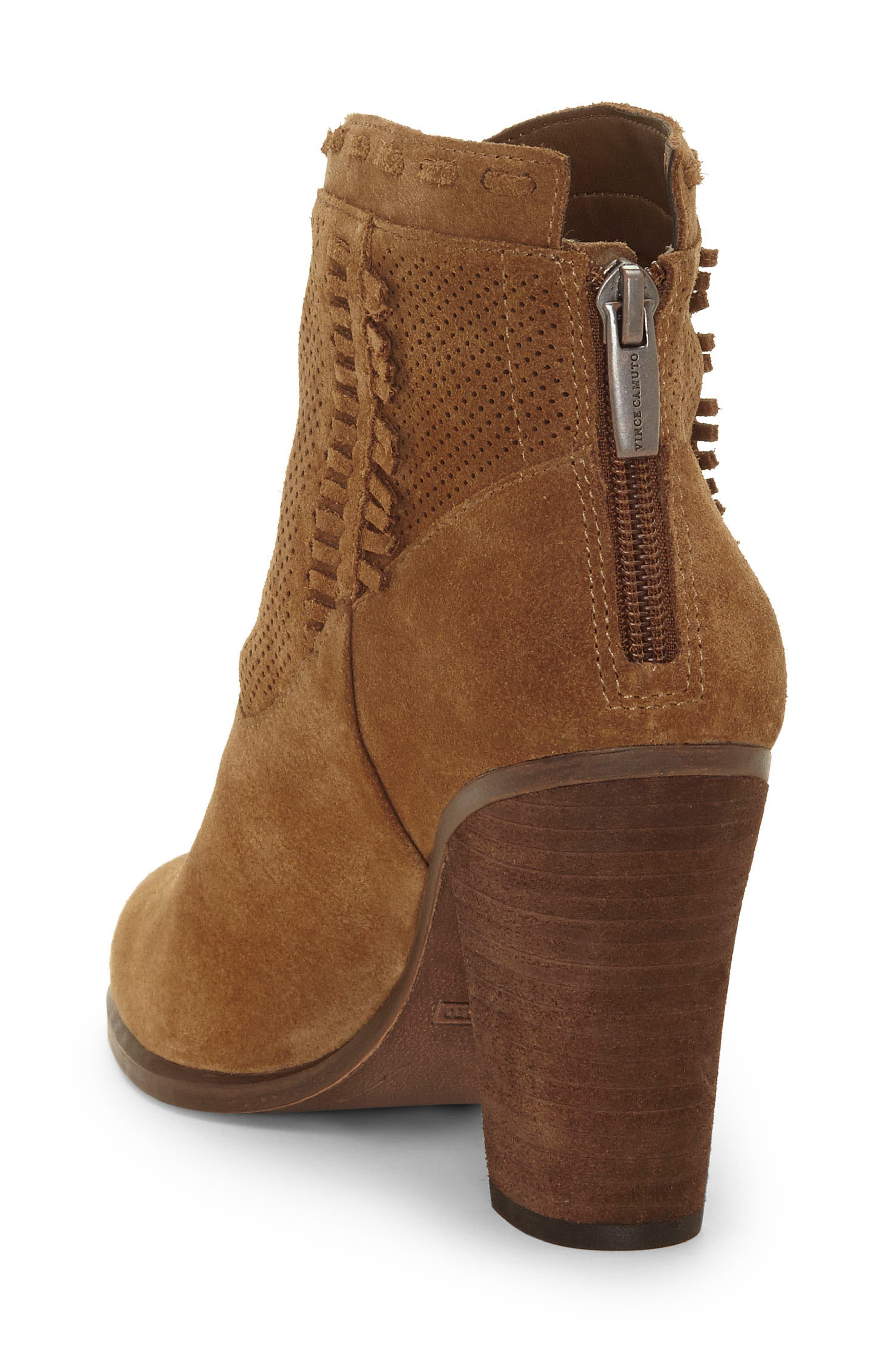 VINCE CAMUTO, Fretzia Perforated Boot, Alternate thumbnail 2, color, TREE HOUSE NUBUCK