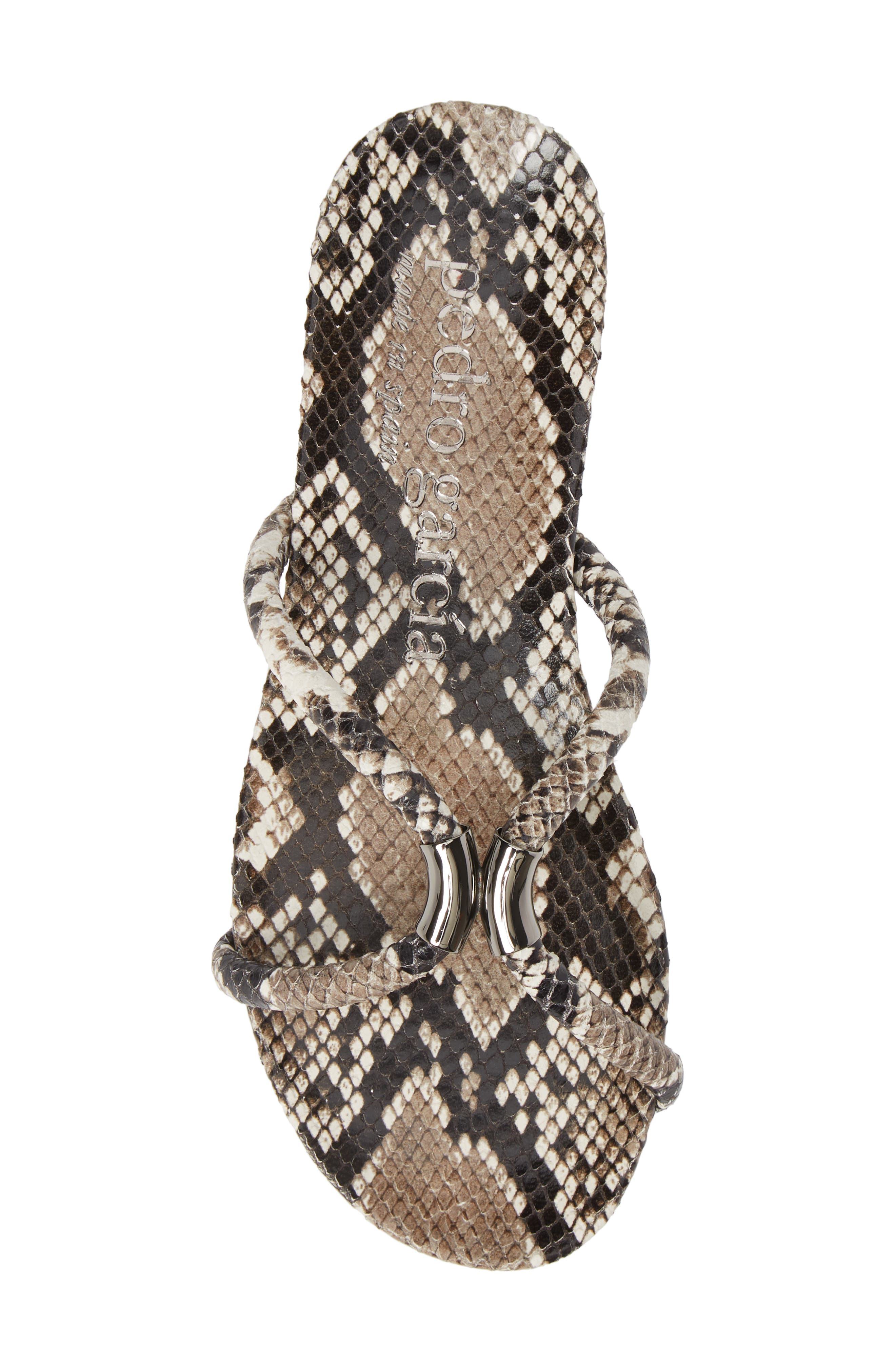 PEDRO GARCIA, Geminy Slide Sandal, Alternate thumbnail 5, color, NATURAL PYTHON