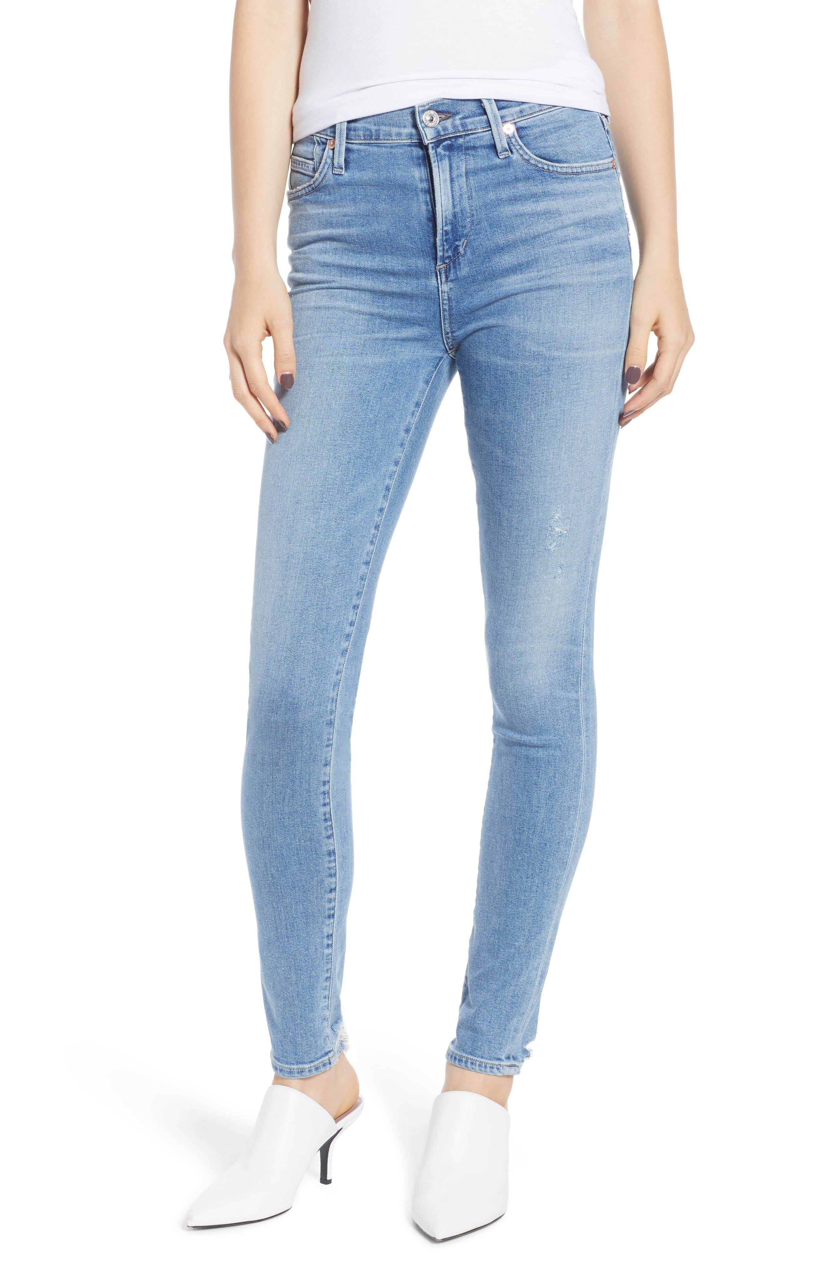 CITIZENS OF HUMANITY, Rocket High Waist Skinny Jeans, Main thumbnail 1, color, SMALL TALK