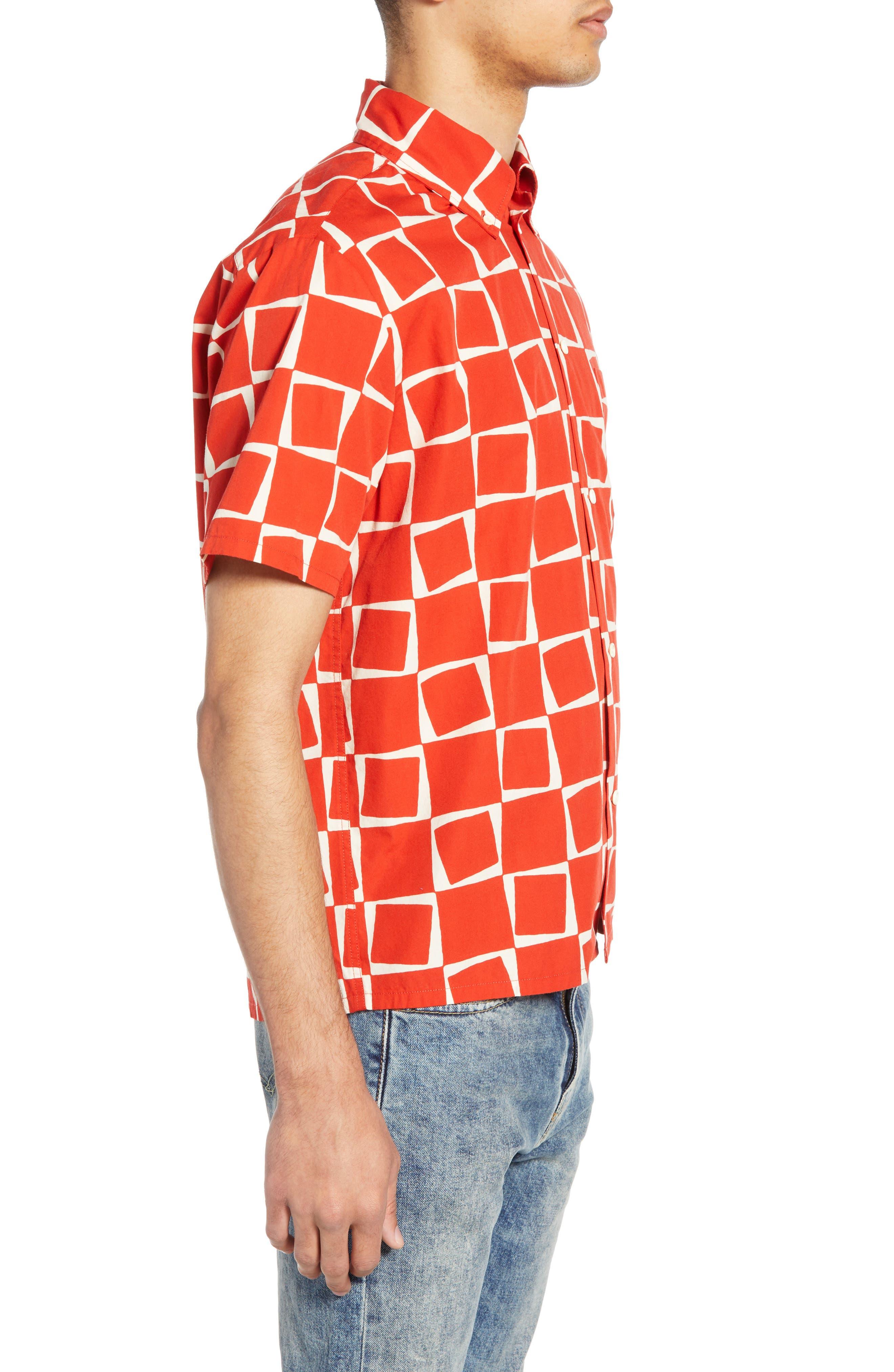 LEVI'S<SUP>®</SUP> VINTAGE CLOTHING, 1950s Regular Atomic Square Woven Shirt, Alternate thumbnail 4, color, 600