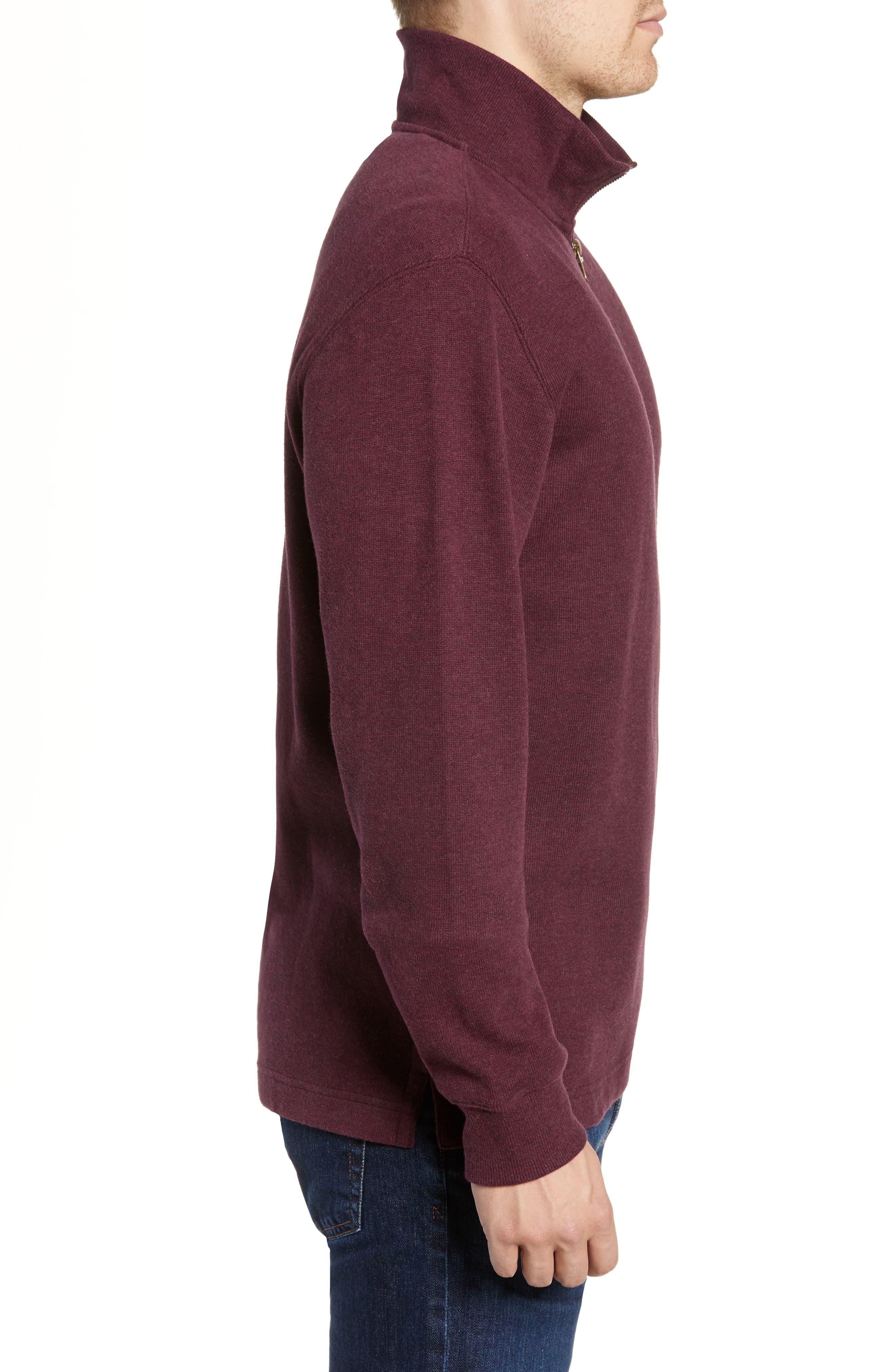 RODD & GUNN, Alton Ave Regular Fit Pullover Sweatshirt, Alternate thumbnail 3, color, BURGUNDY