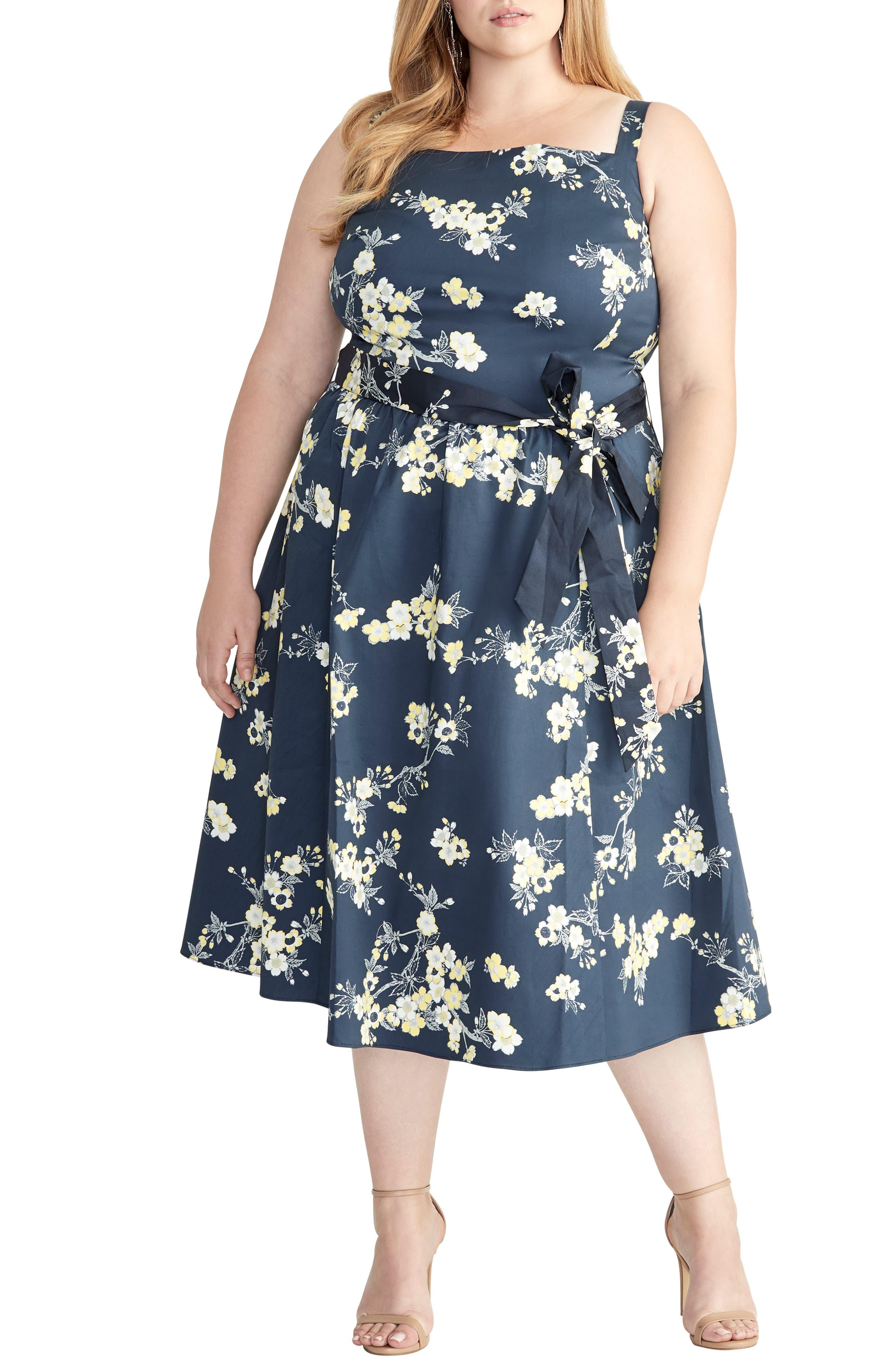 Plus Size Rachel Rachel Roy Floral Fit & Flare Sundress, Blue