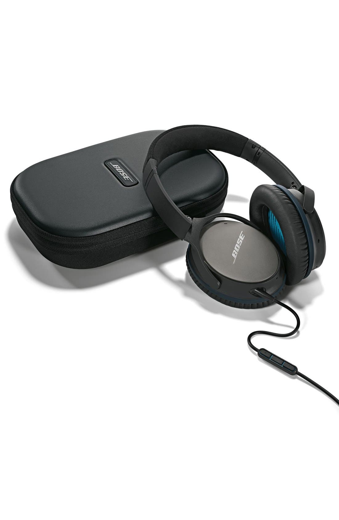 BOSE<SUP>®</SUP>, QuietComfort<sup>®</sup> 25 Acoustic Noise Cancelling<sup>®</sup> iOS Headphones, Alternate thumbnail 4, color, 001