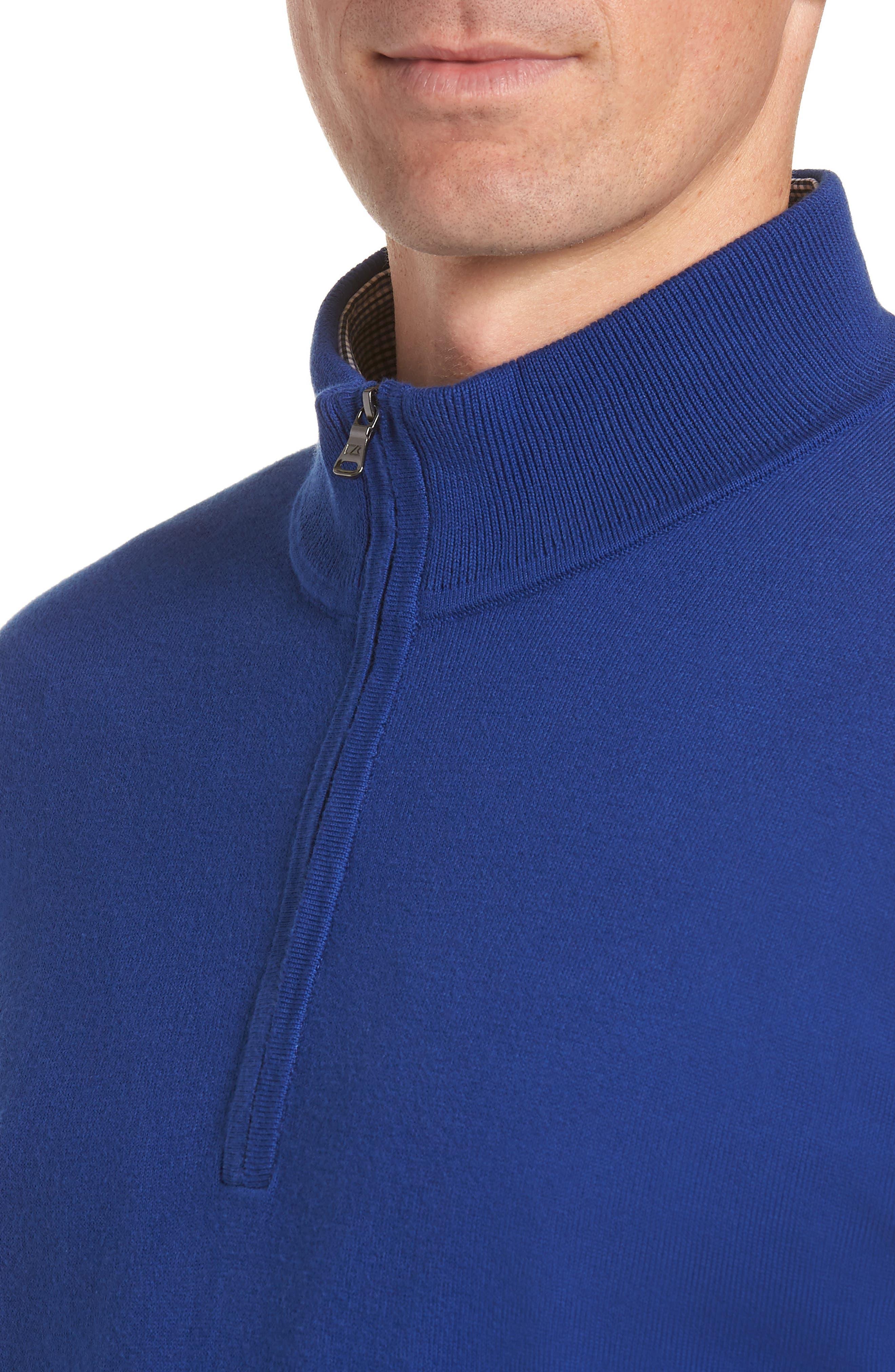 CUTTER & BUCK, Lakemont Half Zip Sweater, Alternate thumbnail 4, color, 419