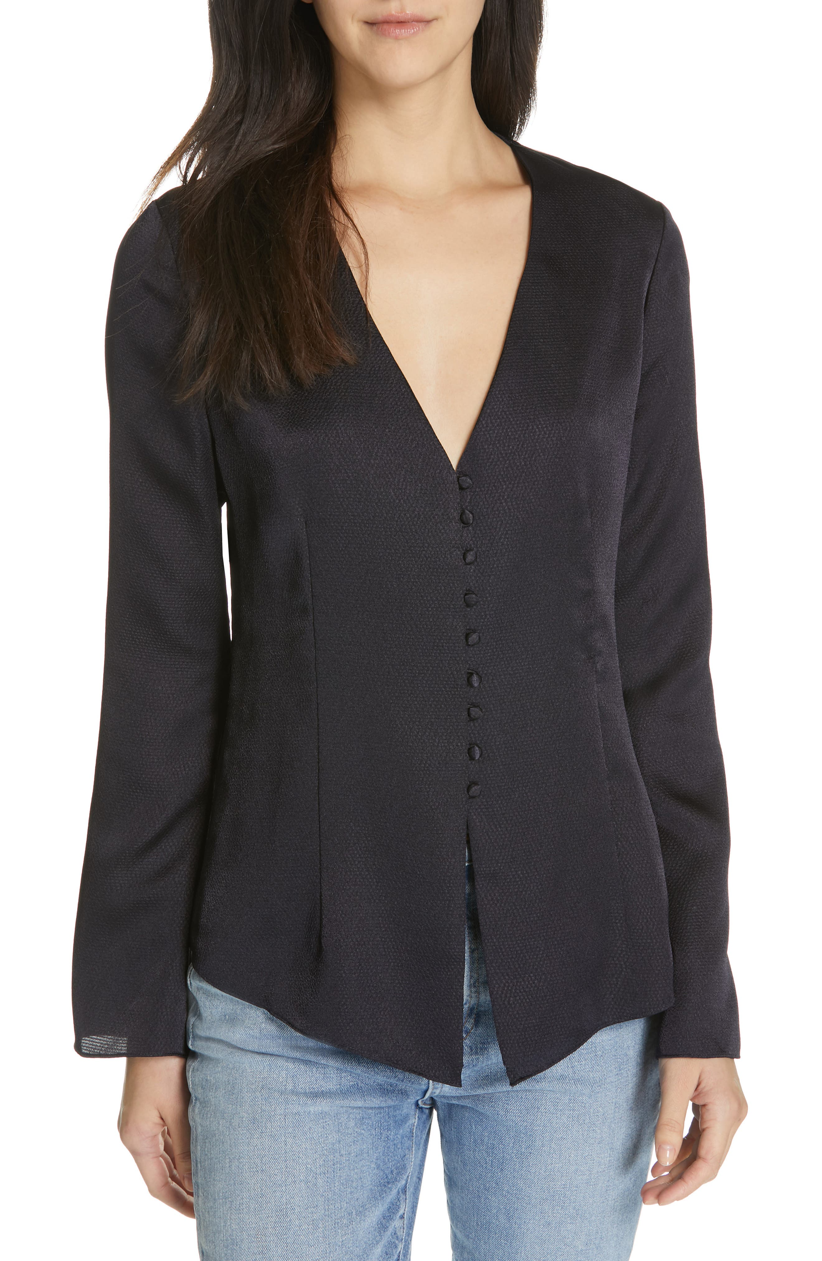 JOIE Madora Top, Main, color, MIDNIGHT
