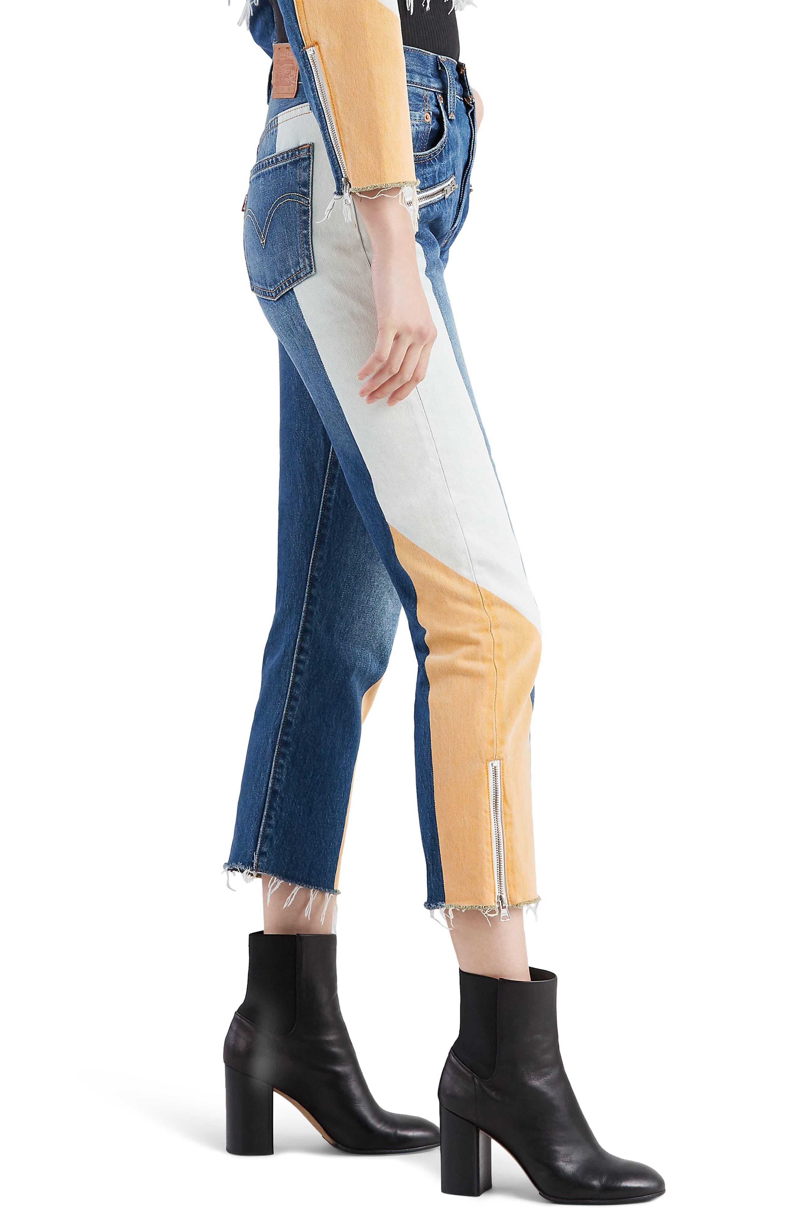 LEVI'S<SUP>®</SUP>, 501<sup>®</sup> Moto Crop Jeans, Alternate thumbnail 4, color, SHOW TEETH