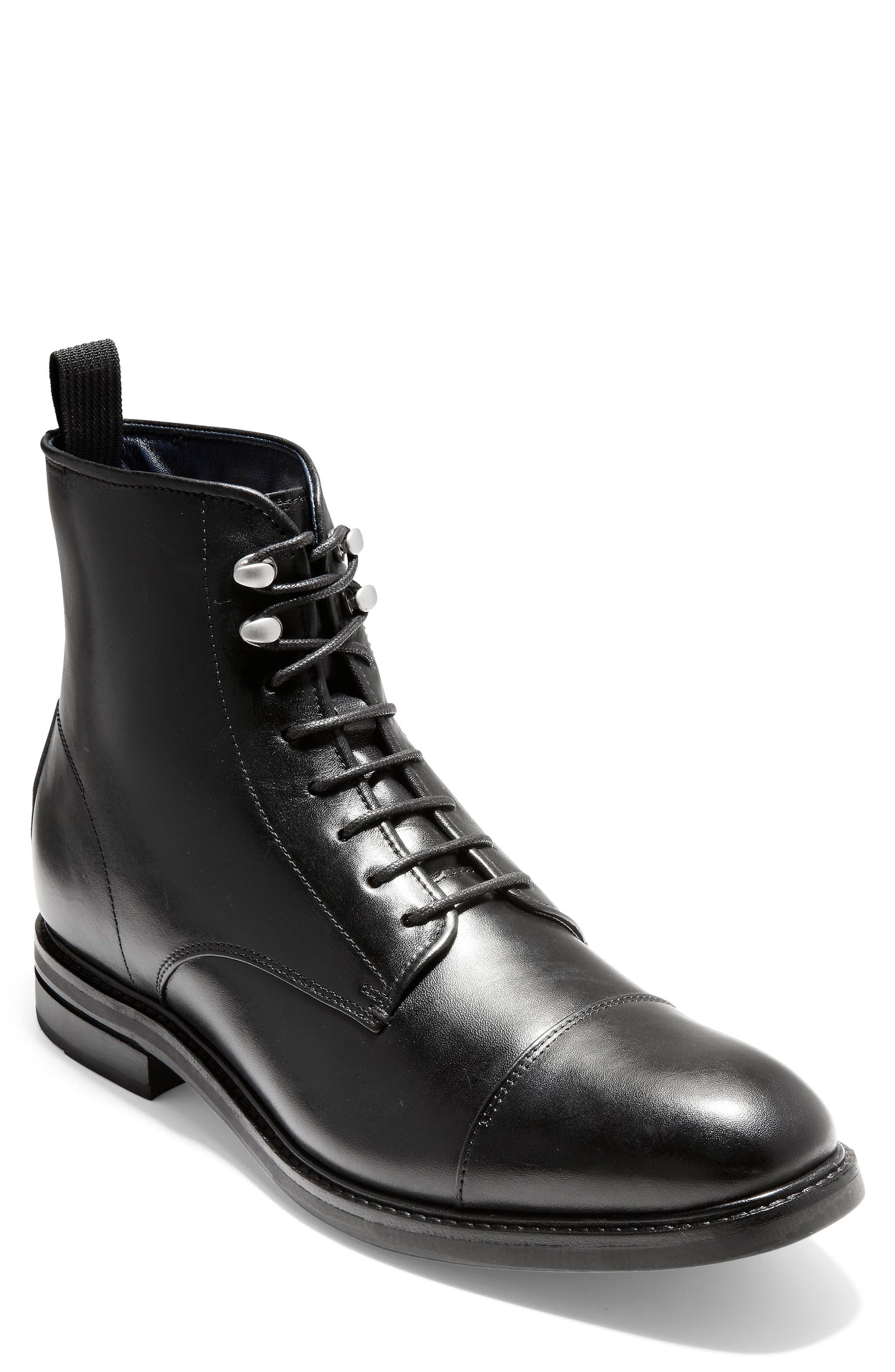 Cole Haan Wagner Grand Cap Toe Waterproof Boot, Black