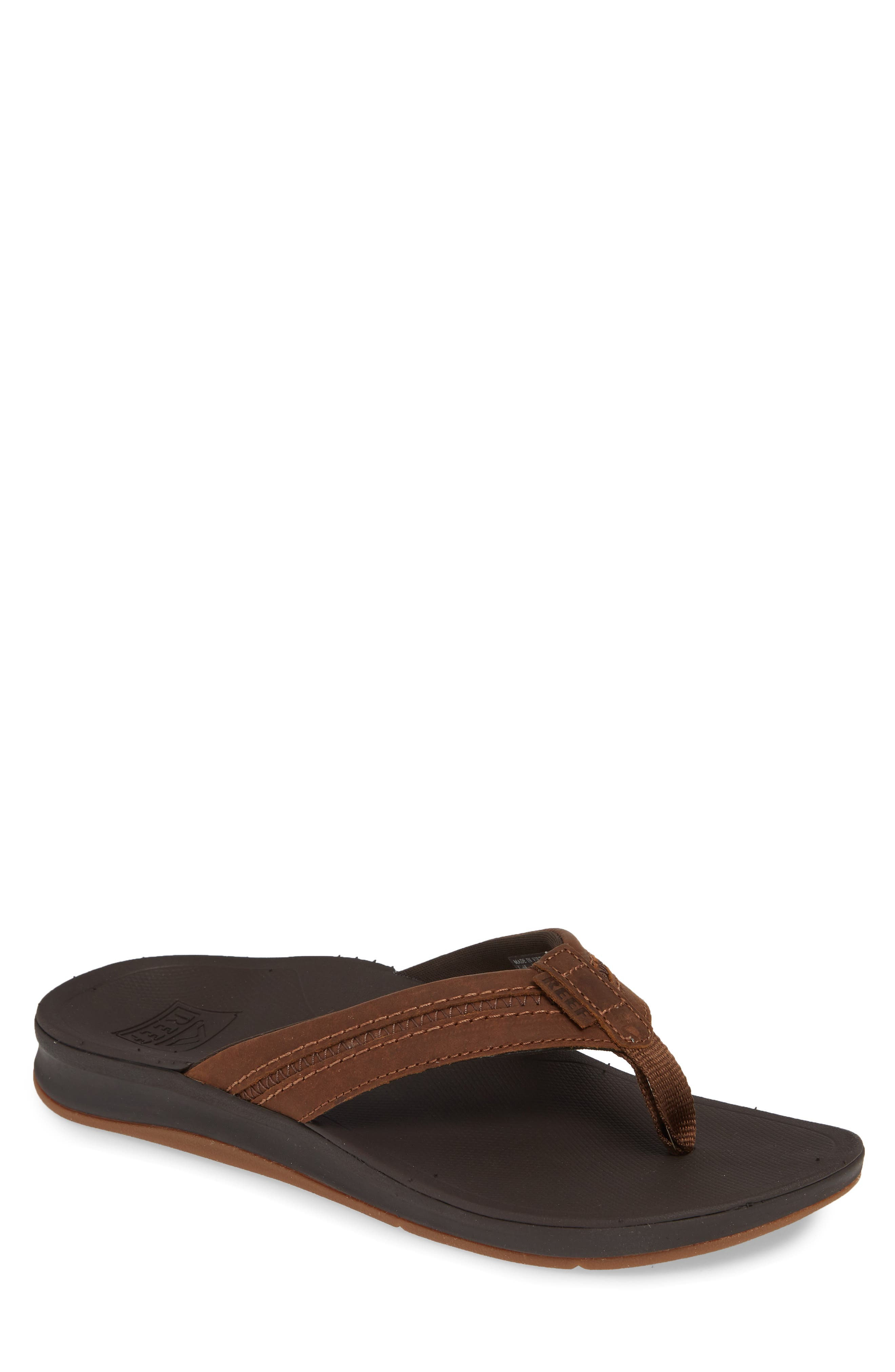 REEF Ortho Bounce Coast Flip Flop, Main, color, BROWN