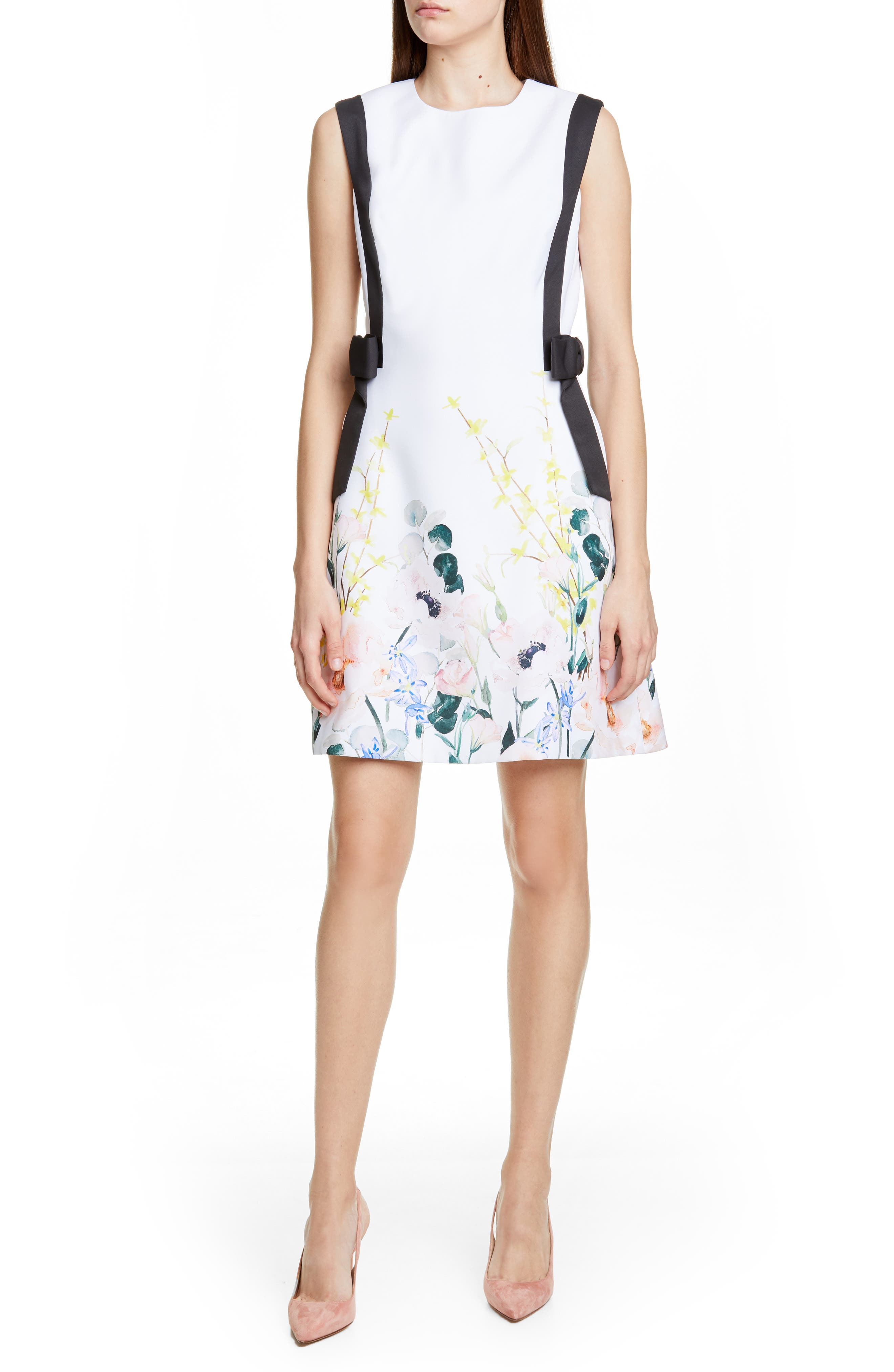 Ted Baker London Marzy Elegance Bow A-Line Dress, White