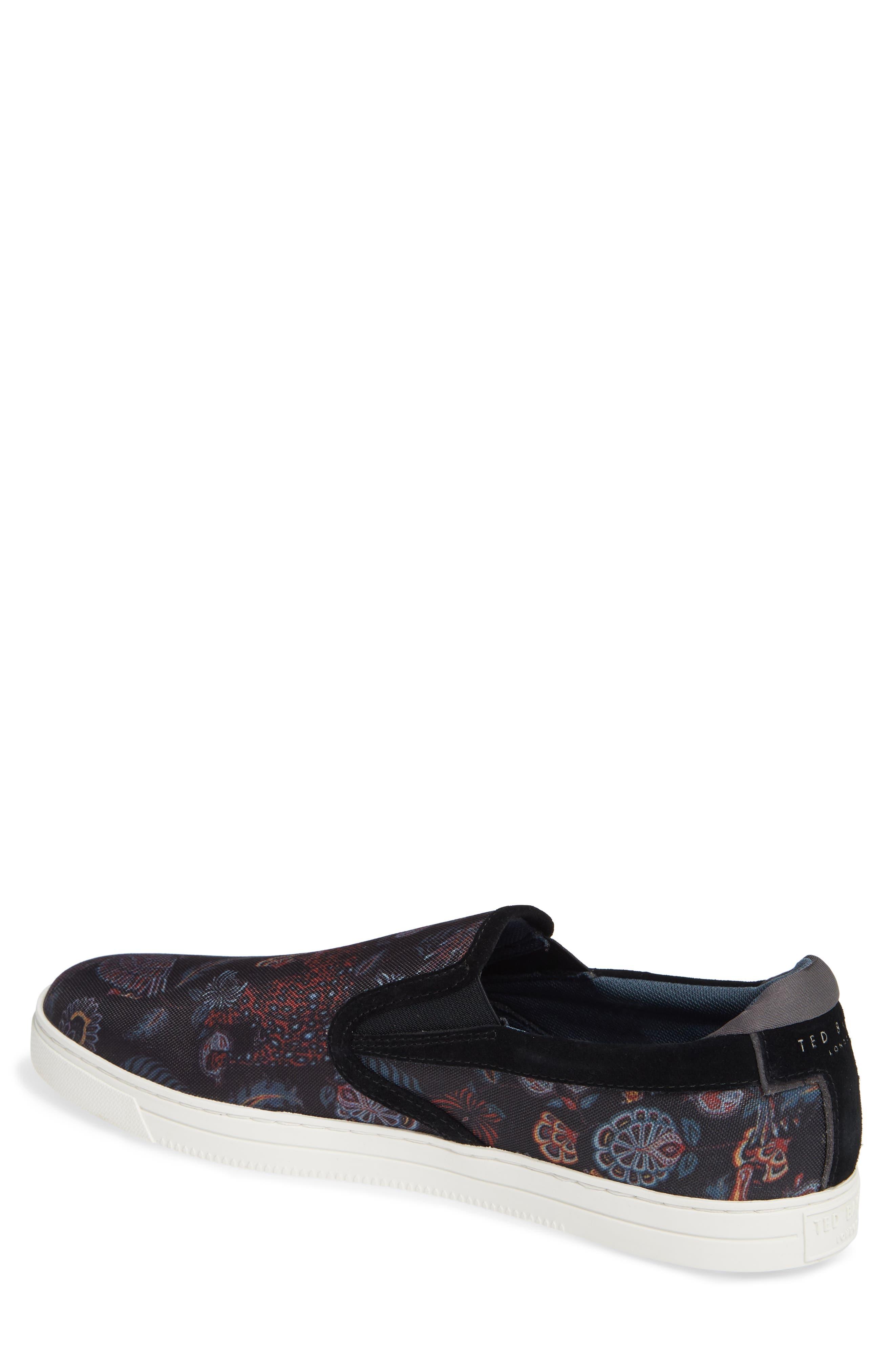 TED BAKER LONDON, Mhako Slip-On Sneaker, Alternate thumbnail 2, color, BLACK/ GREY