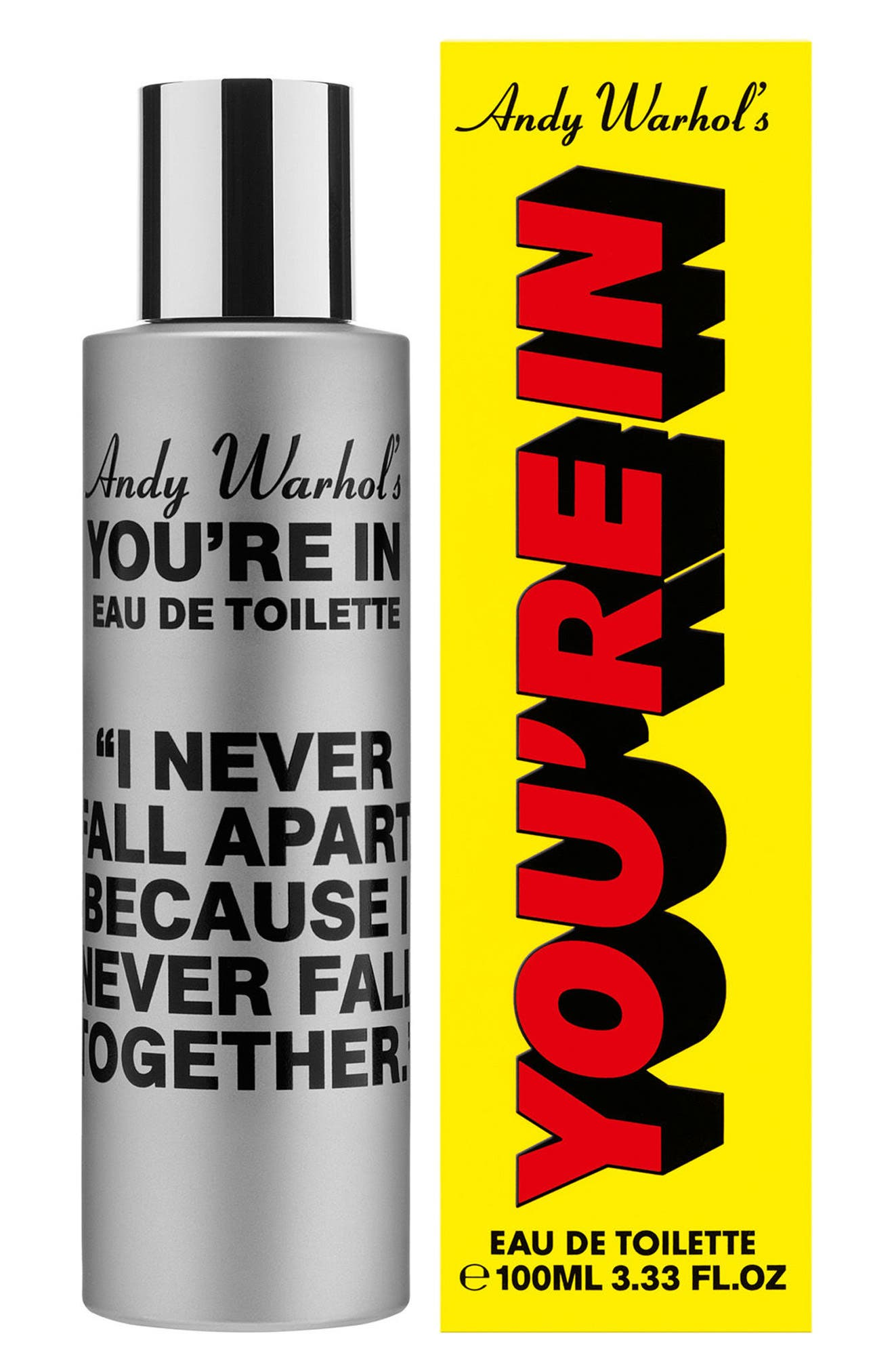 COMME DES GARÇONS, Andy Warhol You're In Unisex Eau de Toilette, Alternate thumbnail 2, color, I NEVER FALL