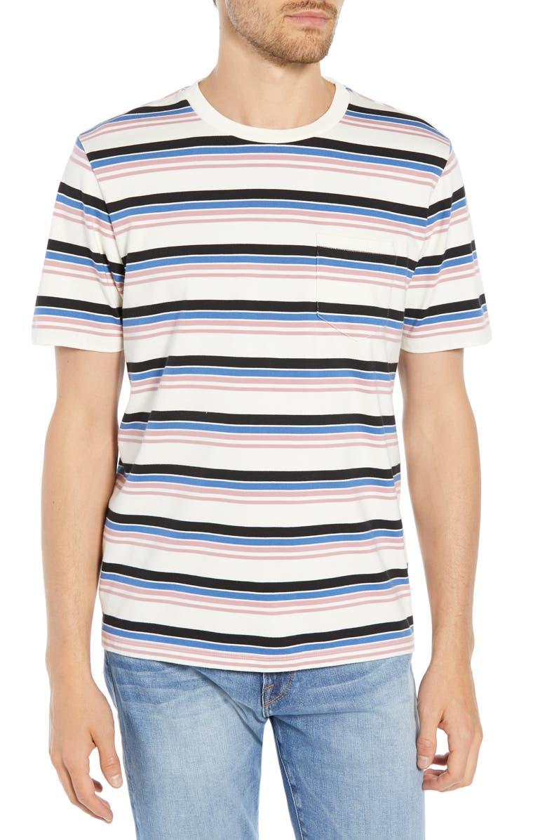 Frame T-shirts SLIM FIT STRIPE POCKET T-SHIRT