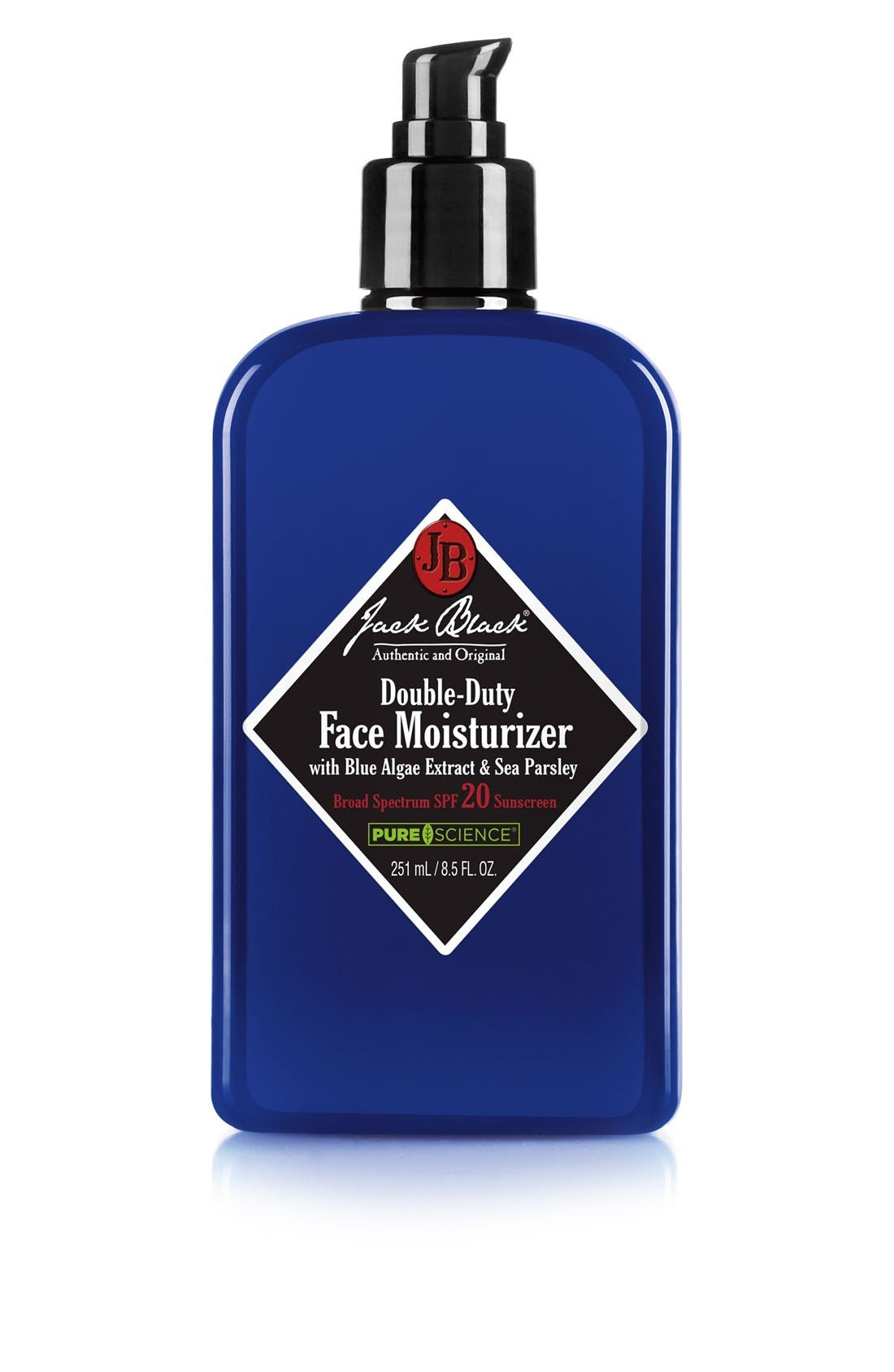 JACK BLACK, Double-Duty Face Moisturizer SPF 20, Main thumbnail 1, color, NO COLOR