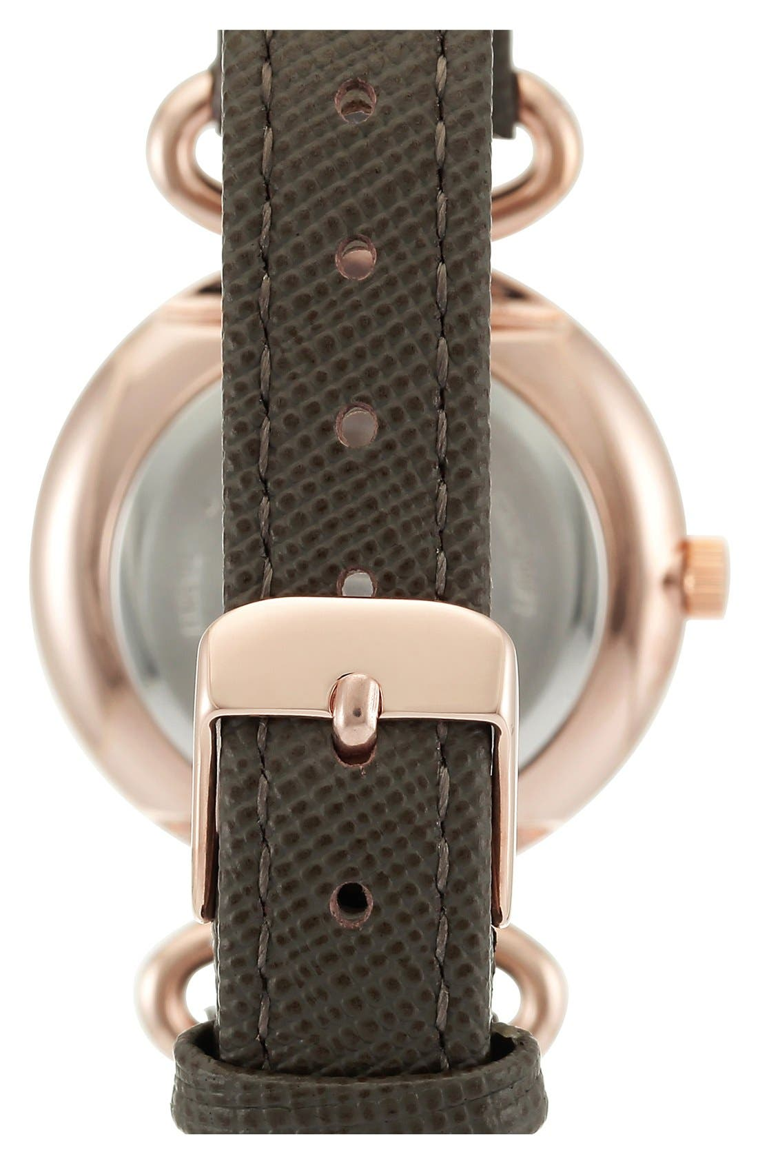 ANNE KLEIN, Leather Strap Watch, 32mm, Alternate thumbnail 2, color, 250