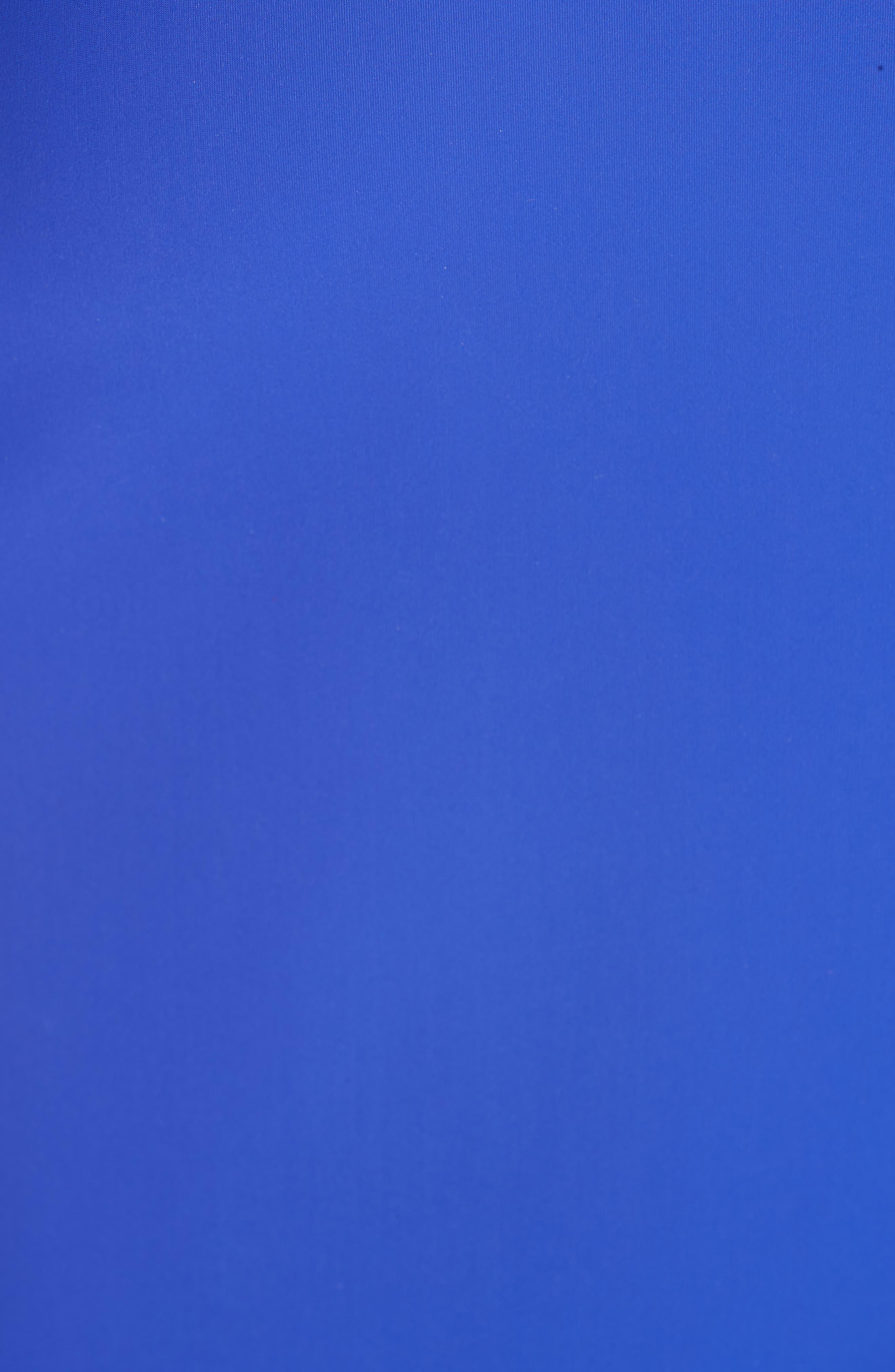 CHIARA BONI LA PETITE ROBE, Iva Bell Sleeve Evening Dress, Alternate thumbnail 7, color, INCHIOSTRO