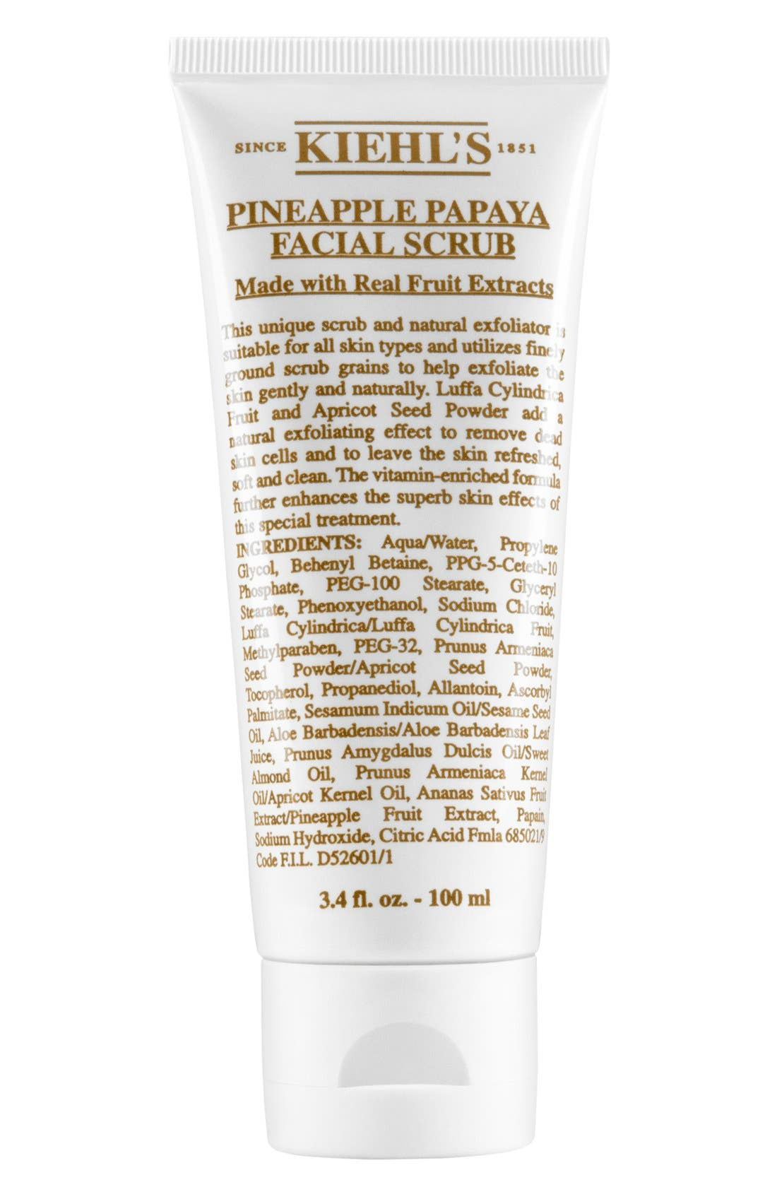 KIEHL'S SINCE 1851, Pineapple Papaya Facial Scrub, Main thumbnail 1, color, NO COLOR