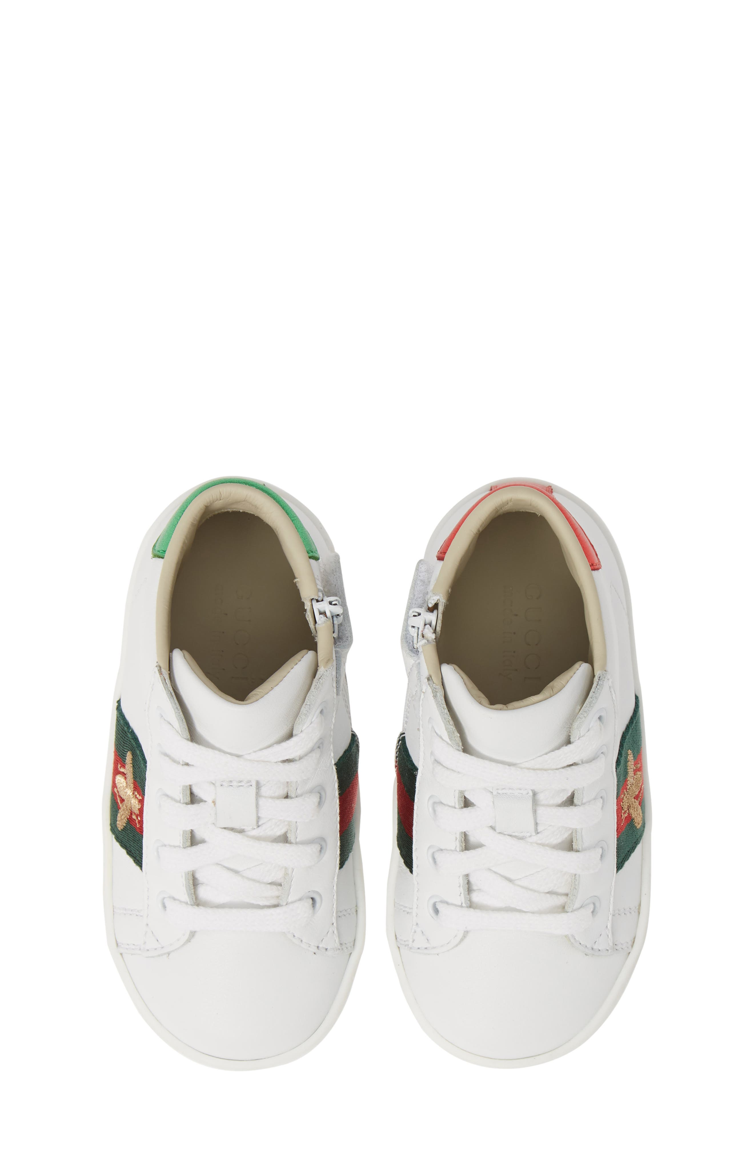GUCCI, New Ace High Top Sneaker, Main thumbnail 1, color, WHITE MULTI