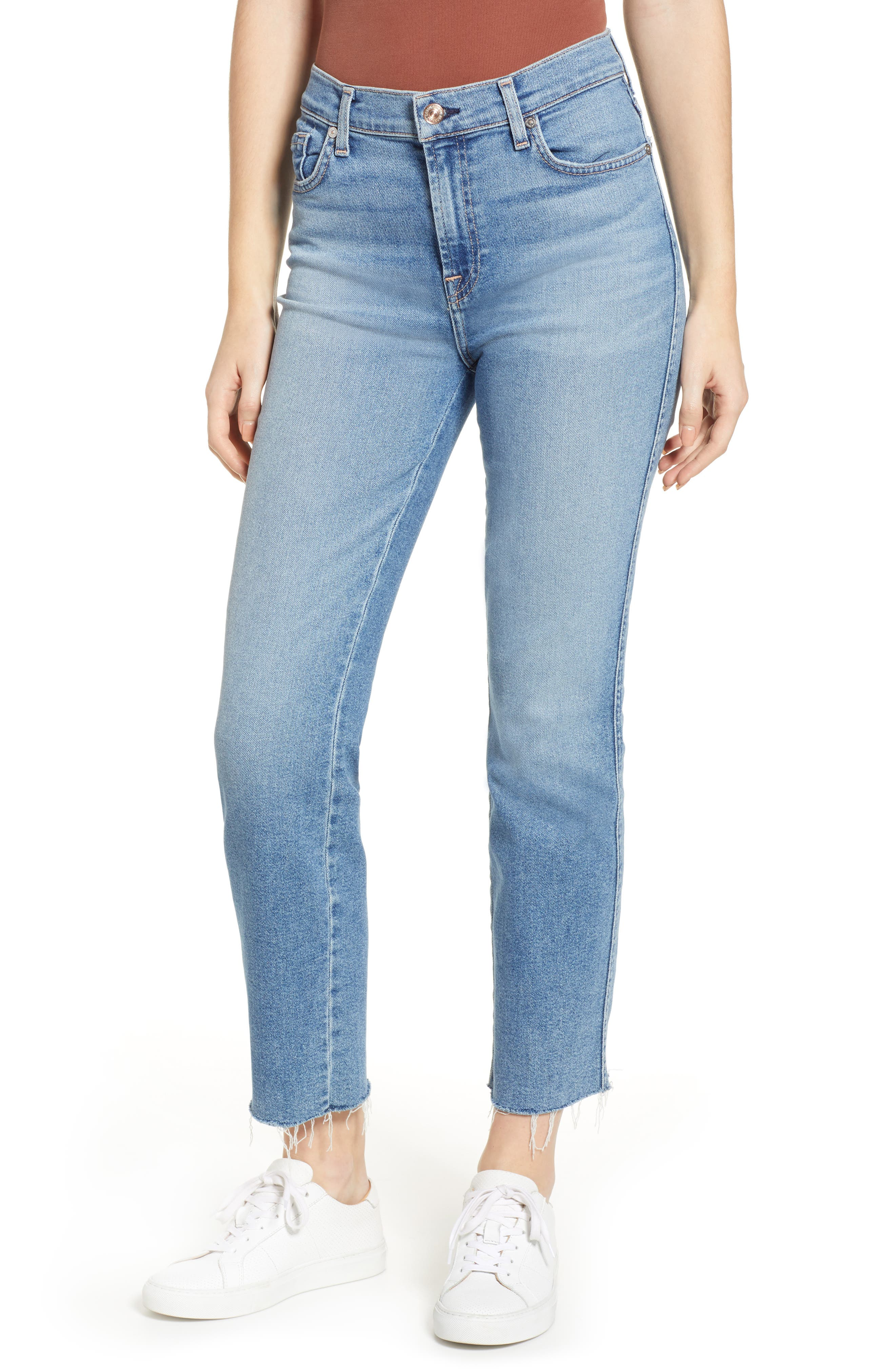 7 FOR ALL MANKIND<SUP>®</SUP> Edie High Waist Crop Jeans, Main, color, LUXE VINTAGE FLORA