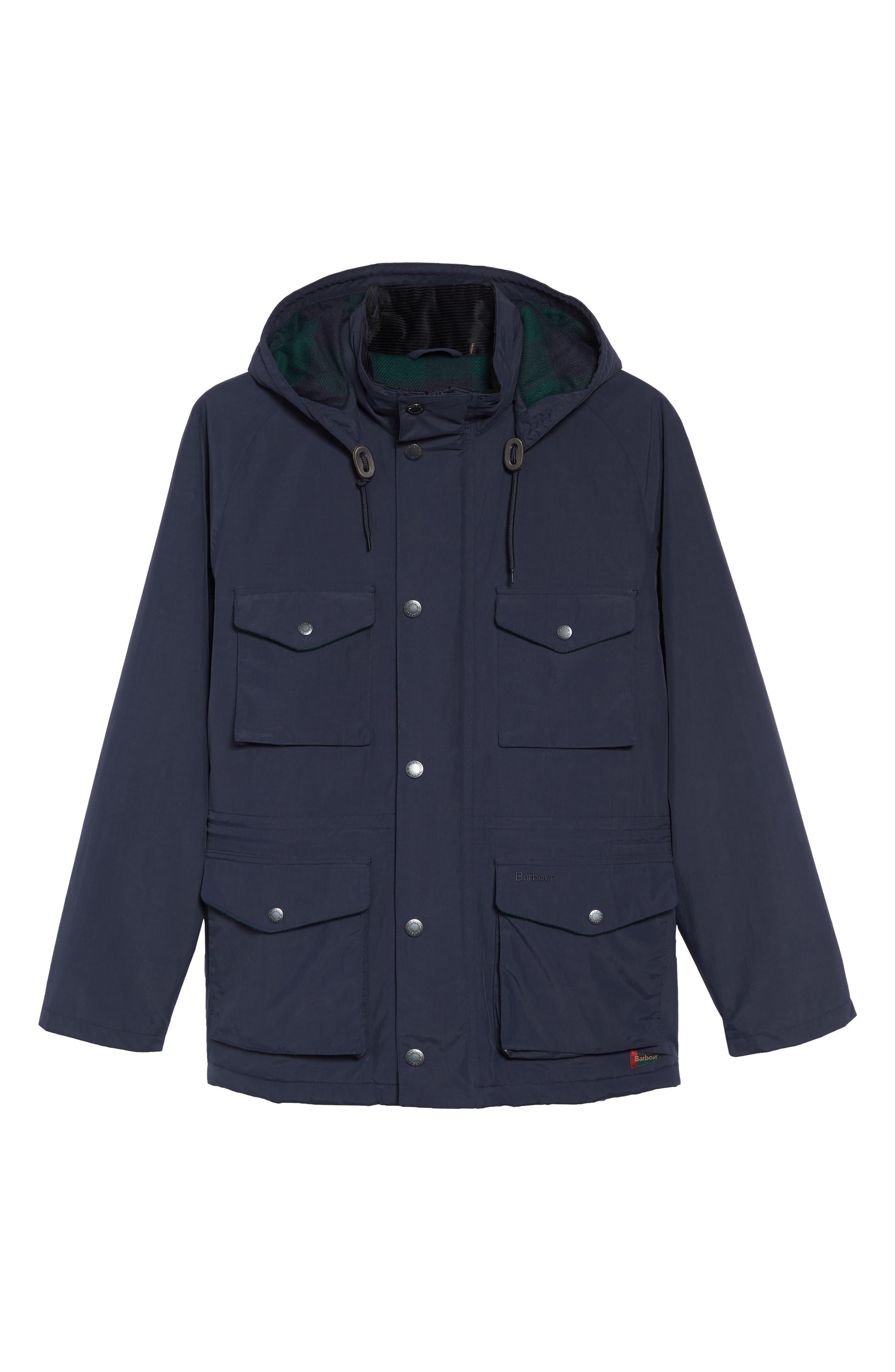 BARBOUR, Tiree Waterproof Jacket, Alternate thumbnail 5, color, 410
