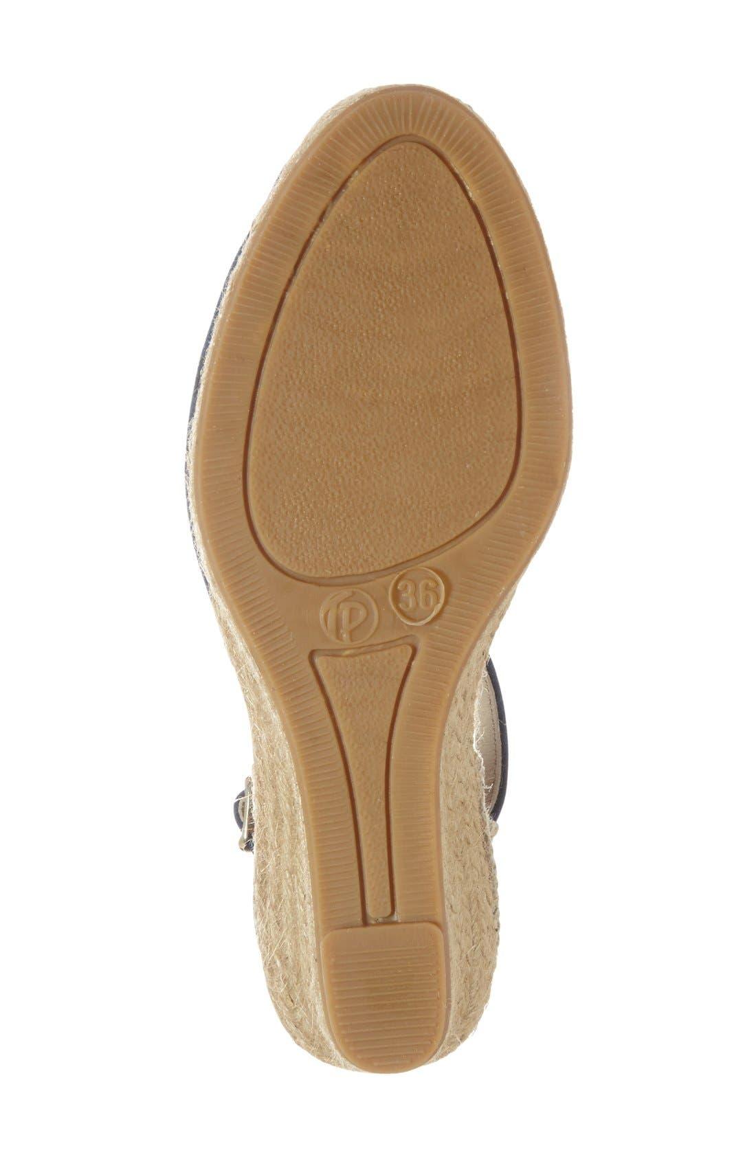 TONI PONS, 'Lloret-5' Espadrille Wedge Sandal, Alternate thumbnail 4, color, NAVY SUEDE