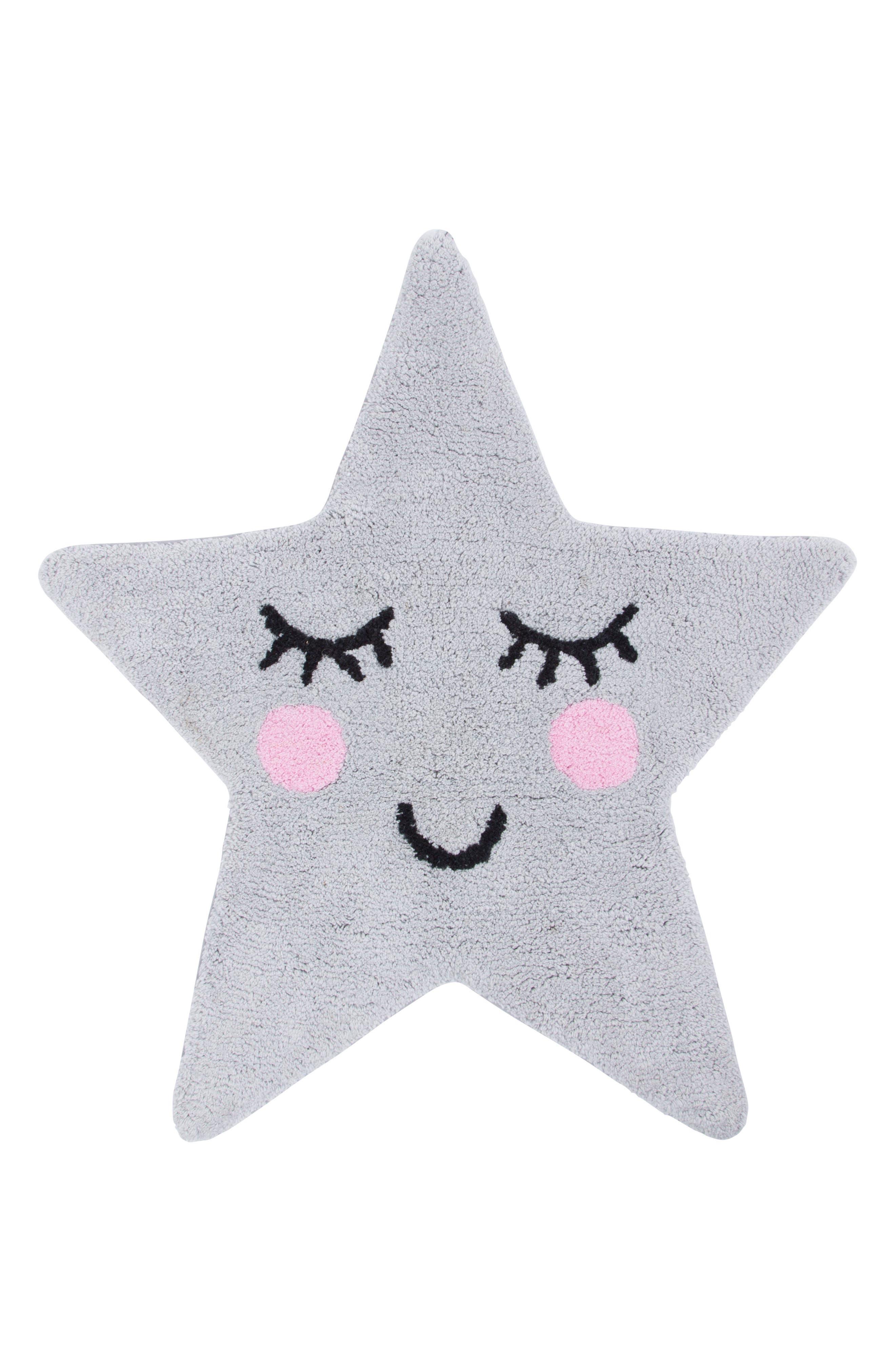 SASS & BELLE, Sweet Dreams Star Rug, Main thumbnail 1, color, 020
