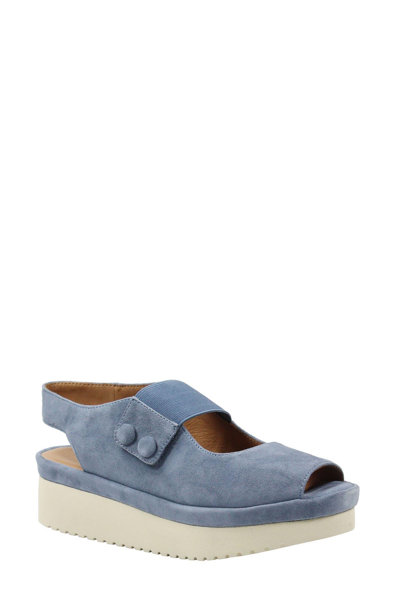 L'AMOUR DES PIEDS Adalicia Platform Sandal, Main, color, INK KID SUEDE