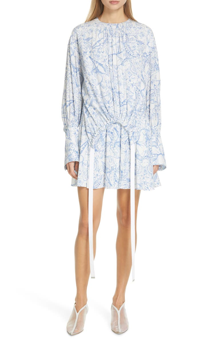 Tibi Dresses ISA TOILE PRINT CINCH WAIST DRESS