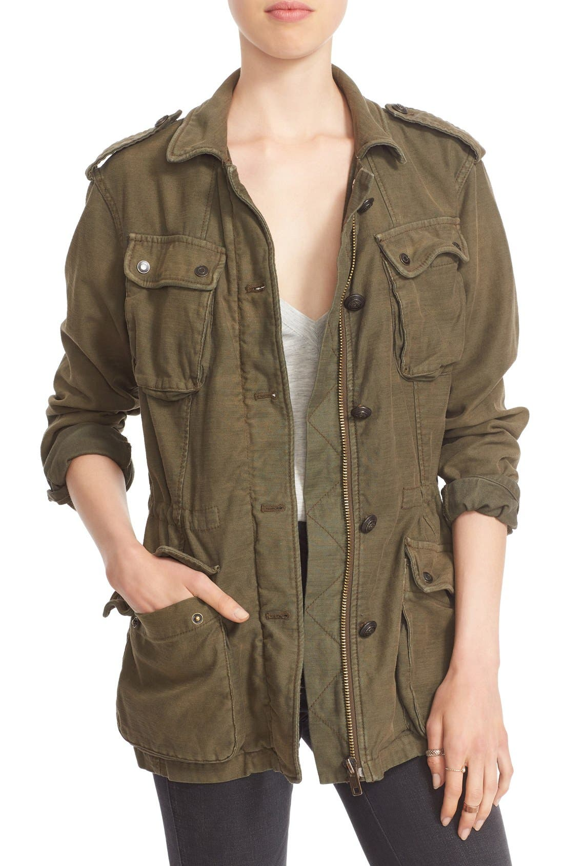 FREE PEOPLE, 'Not Your Brother's' Utility Jacket, Main thumbnail 1, color, 400
