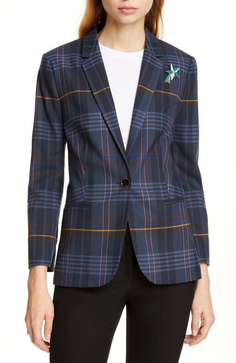 817503fbd8a6 Ted Baker London Colour by Numbers Ellaria Windowpane Check Blazer ...
