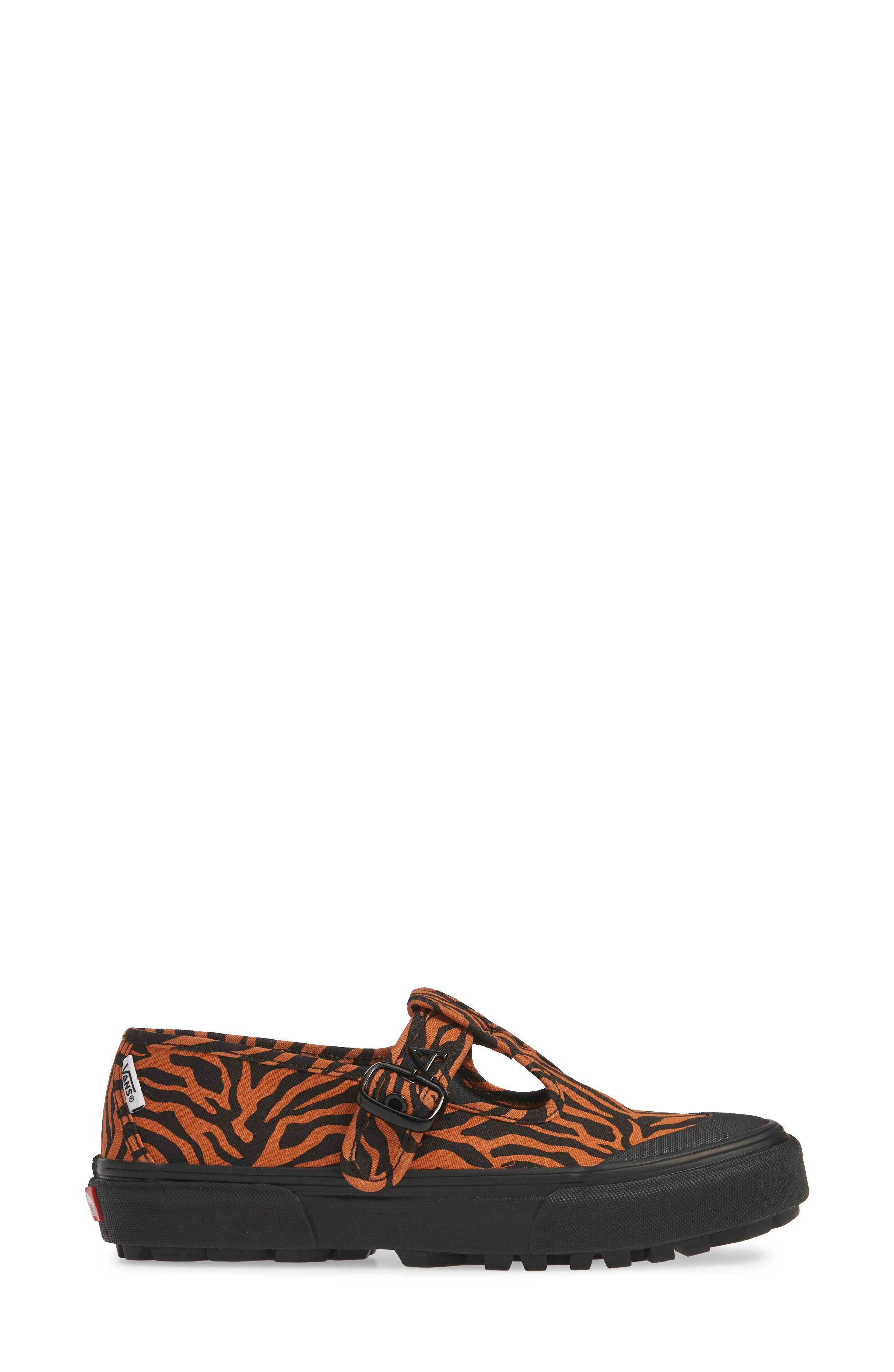 VANS, x Ashley Williams Style 38 Tiger Sneaker, Alternate thumbnail 3, color, TIGER/ BLACK