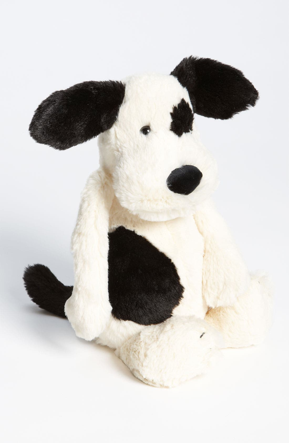 JELLYCAT, 'Bashful' Puppy, Main thumbnail 1, color, BLACK AND CREAM