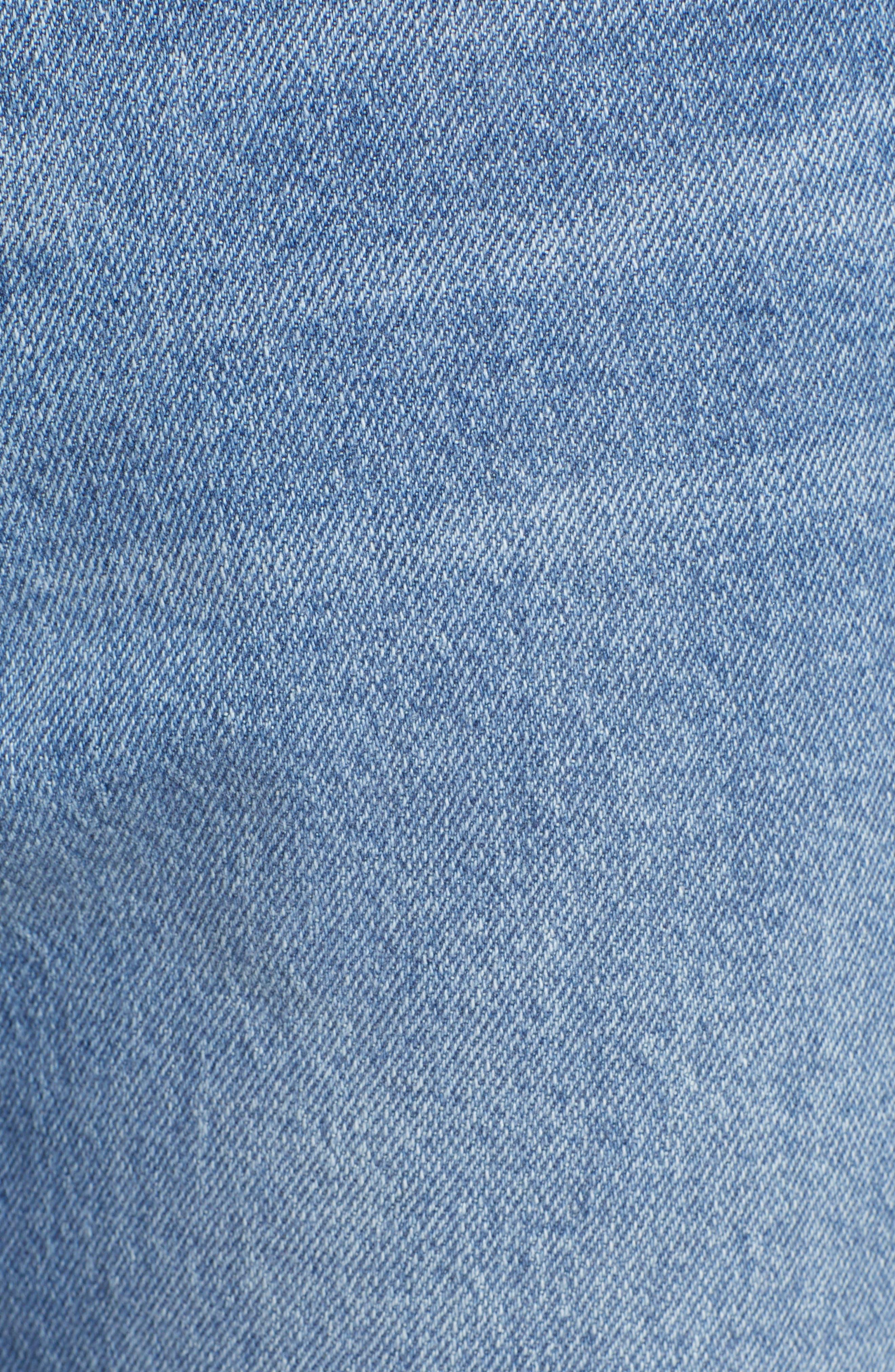 PROSPERITY DENIM, Ripped Crop Flare Jeans, Alternate thumbnail 6, color, MEDIUM WASH