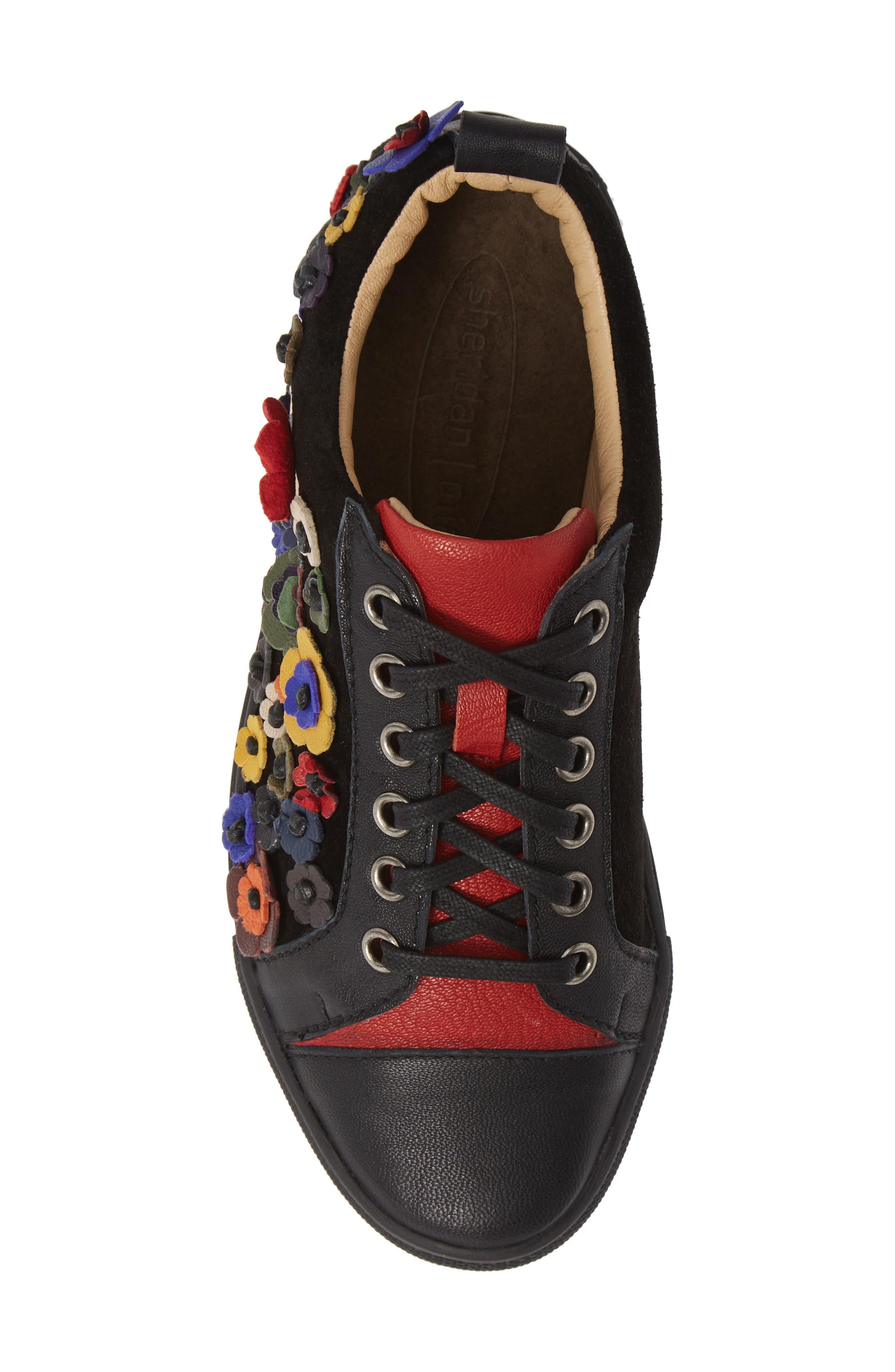 SHERIDAN MIA, Satyr Sneaker, Alternate thumbnail 5, color, BLACK LEATHER