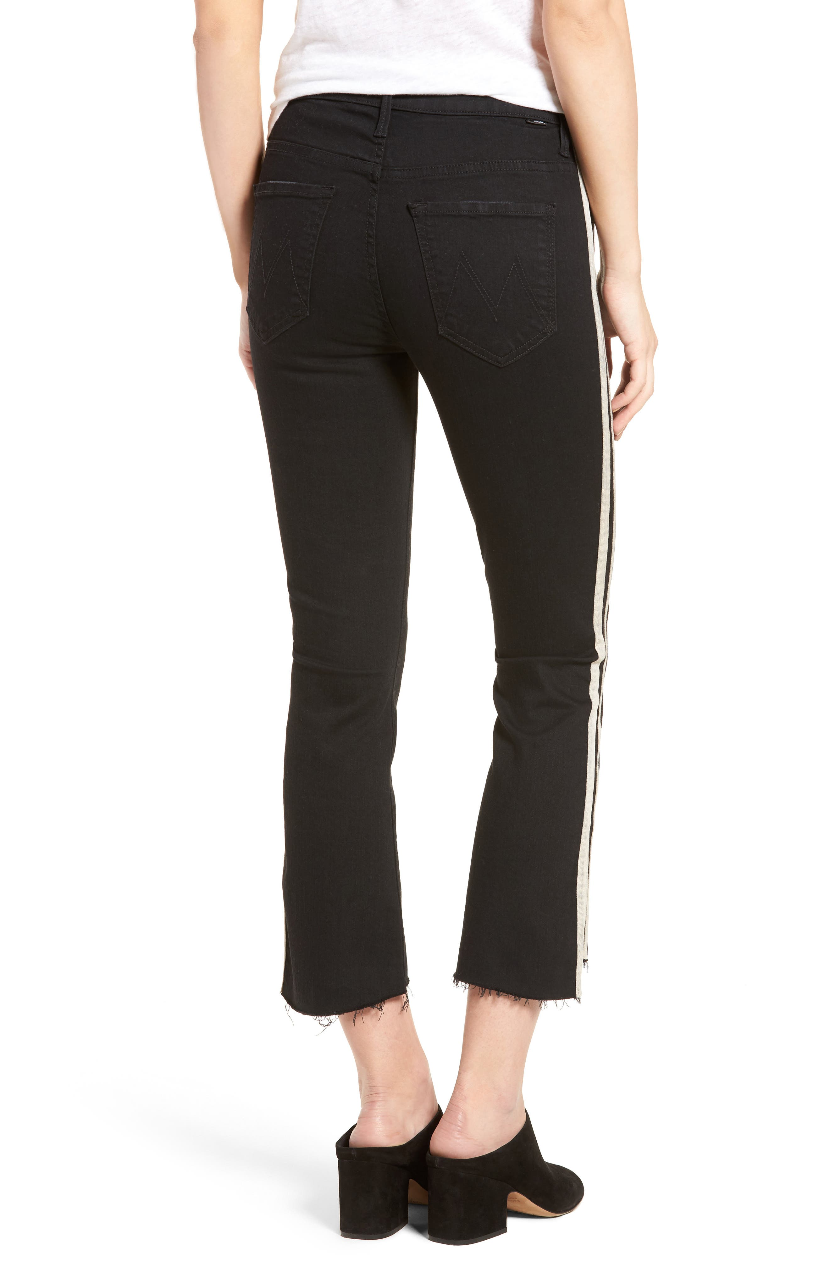 MOTHER, The Insider Crop Jeans, Alternate thumbnail 2, color, GUILTY RACER