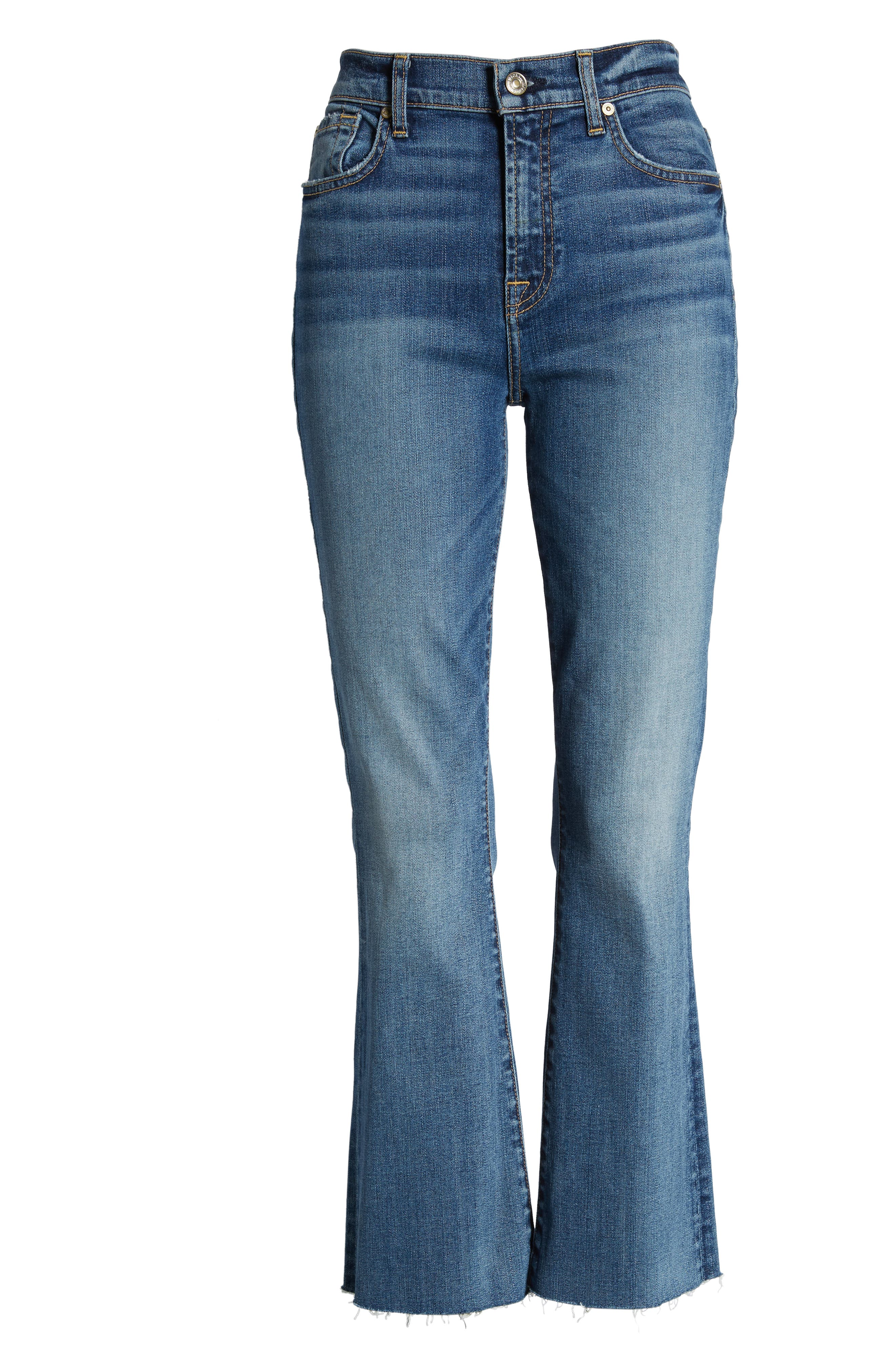 7 FOR ALL MANKIND<SUP>®</SUP>, High Waist Slim Crop Flare Jeans, Alternate thumbnail 7, color, CANYON RANCH