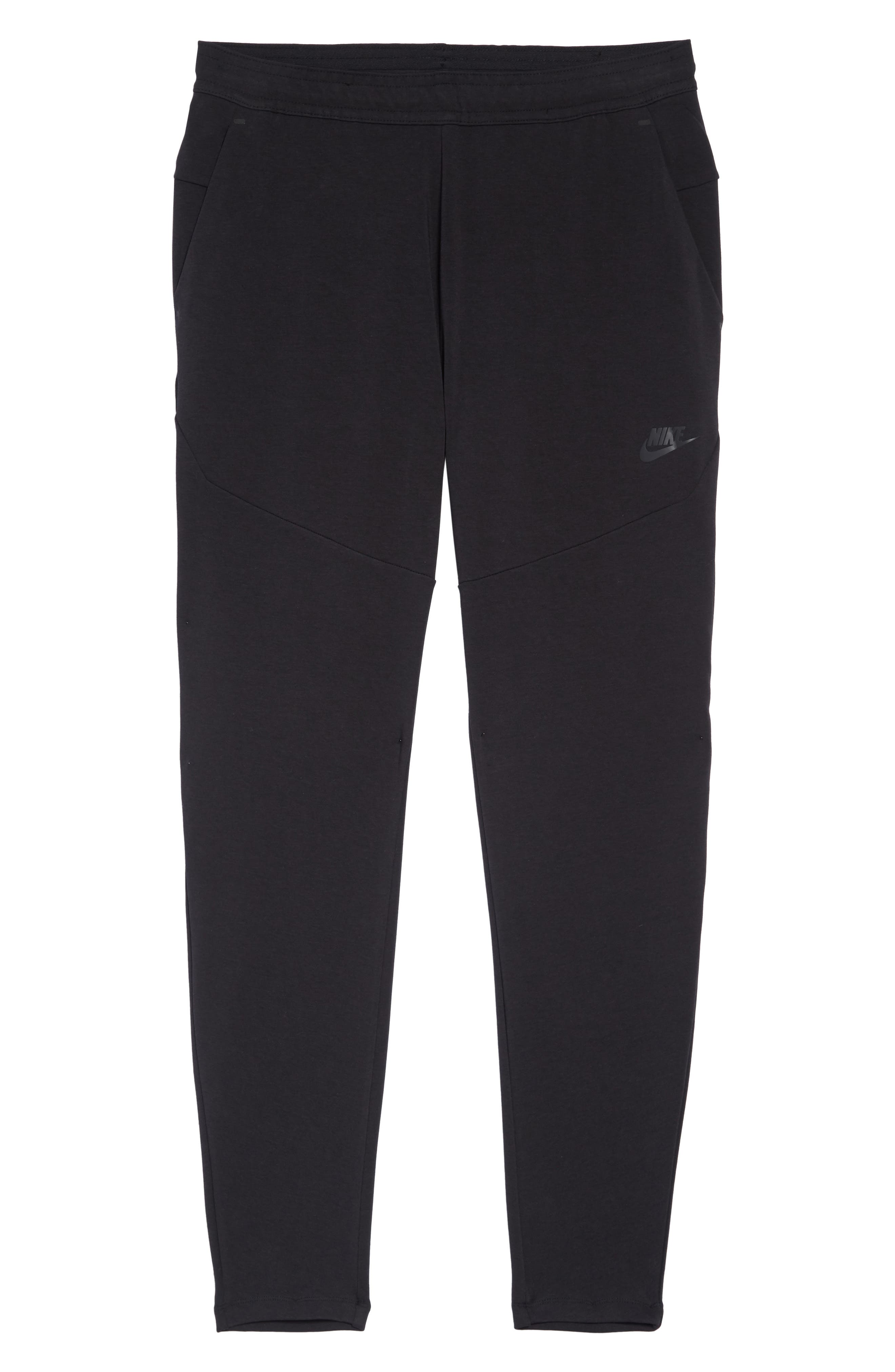 NIKE, Tech Knit Jogger Pants, Alternate thumbnail 7, color, BLACK/ BLACK