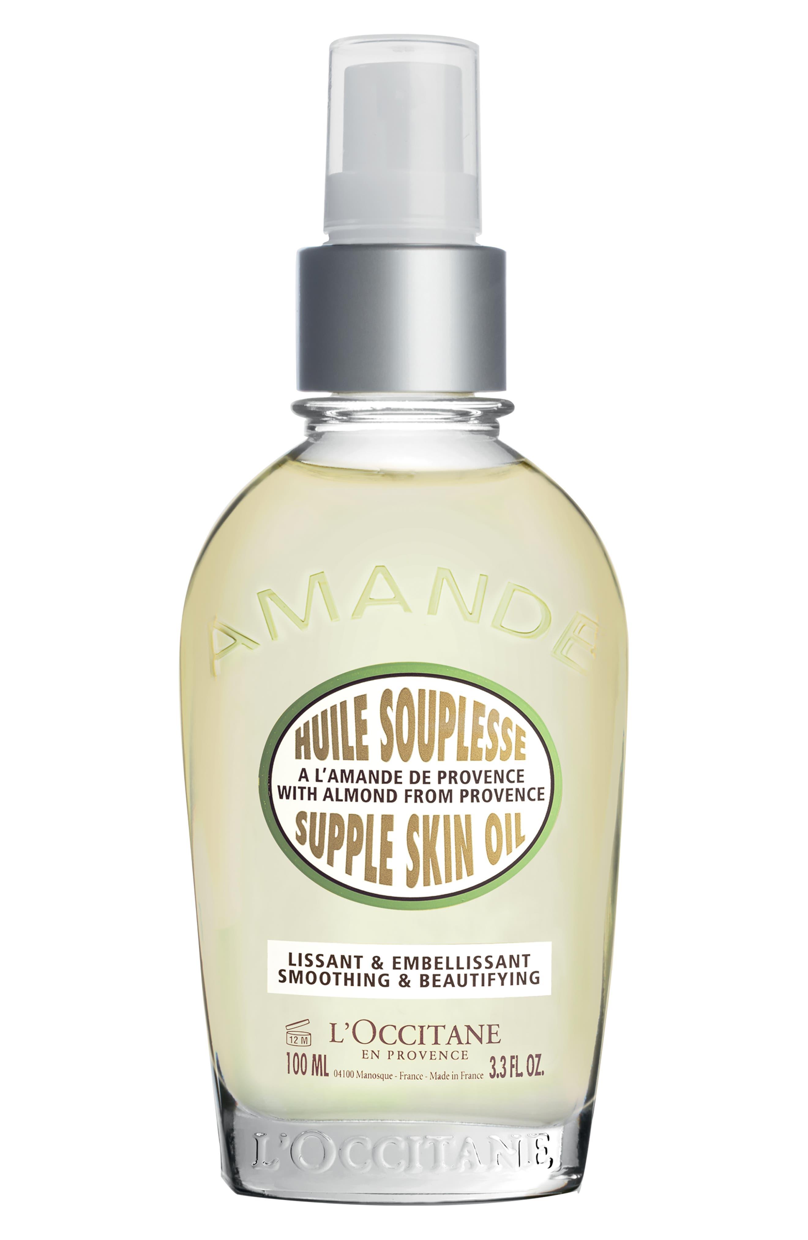 L'OCCITANE, Almond Supple Skin Oil, Main thumbnail 1, color, NO COLOR