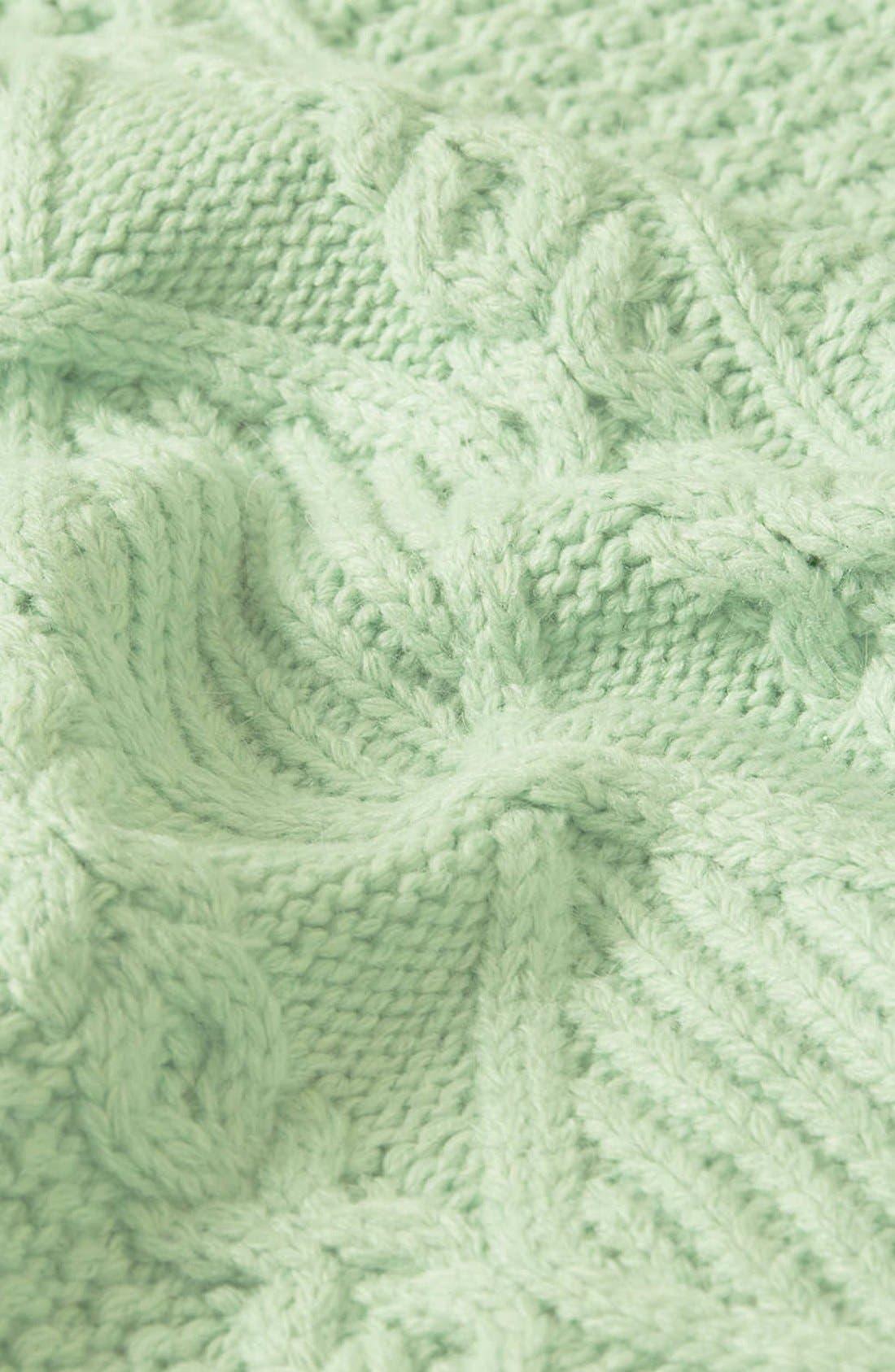 TOPSHOP, Crewneck Cable Knit Sweater, Alternate thumbnail 2, color, 340