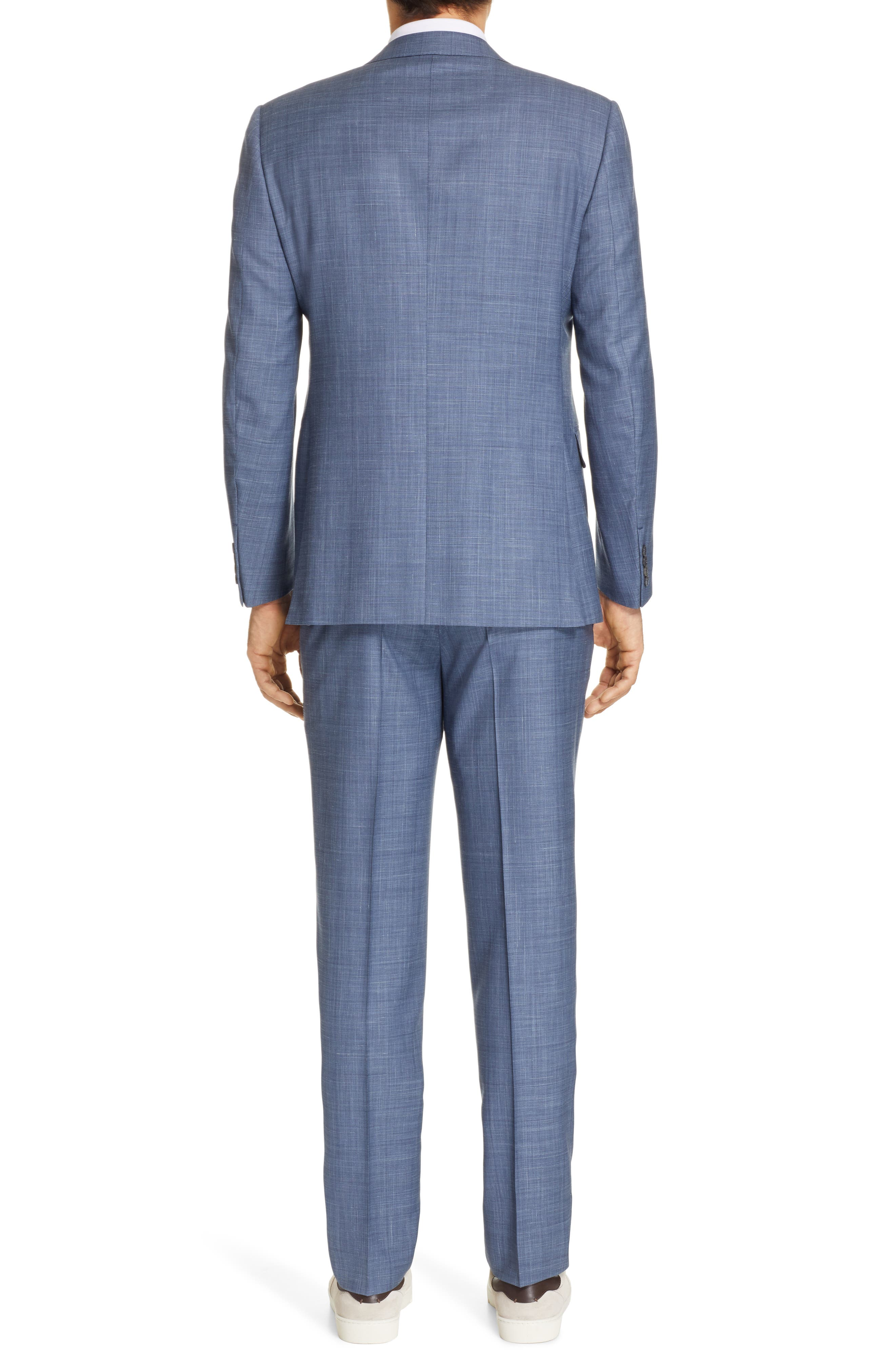 ERMENEGILDO ZEGNA, Trofeo Classic Fit Solid Wool Blend Suit, Alternate thumbnail 2, color, BLUE