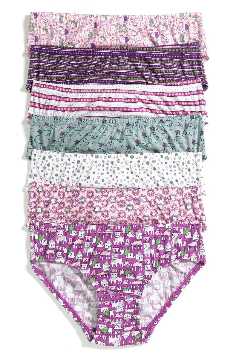 155dbd91972 Ivy   Moon Print Hipsters (7-Pack) (Little Girls)