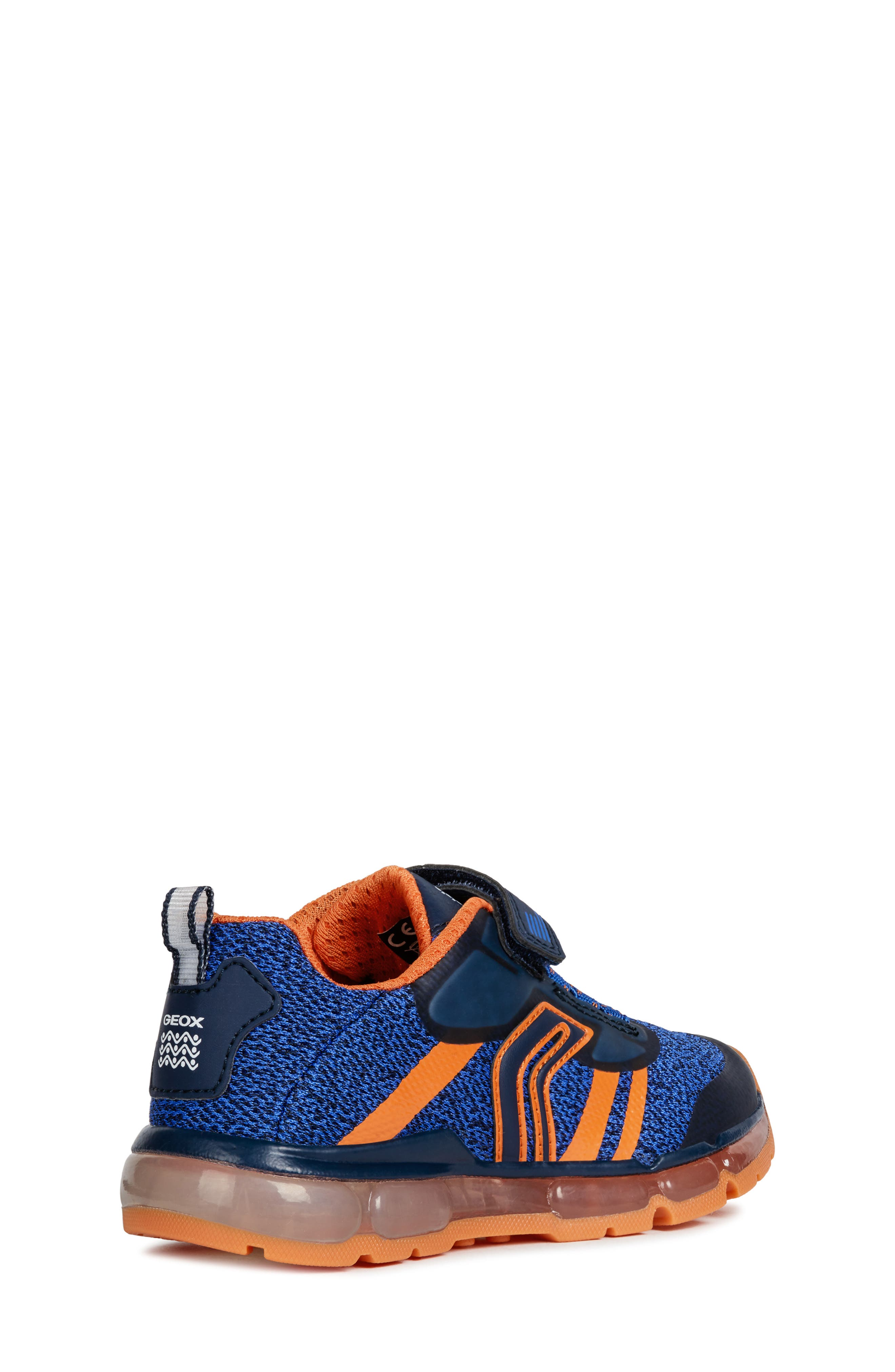 GEOX, Android 19 Light-Up Sneaker, Alternate thumbnail 7, color, NAVY/ ORANGE