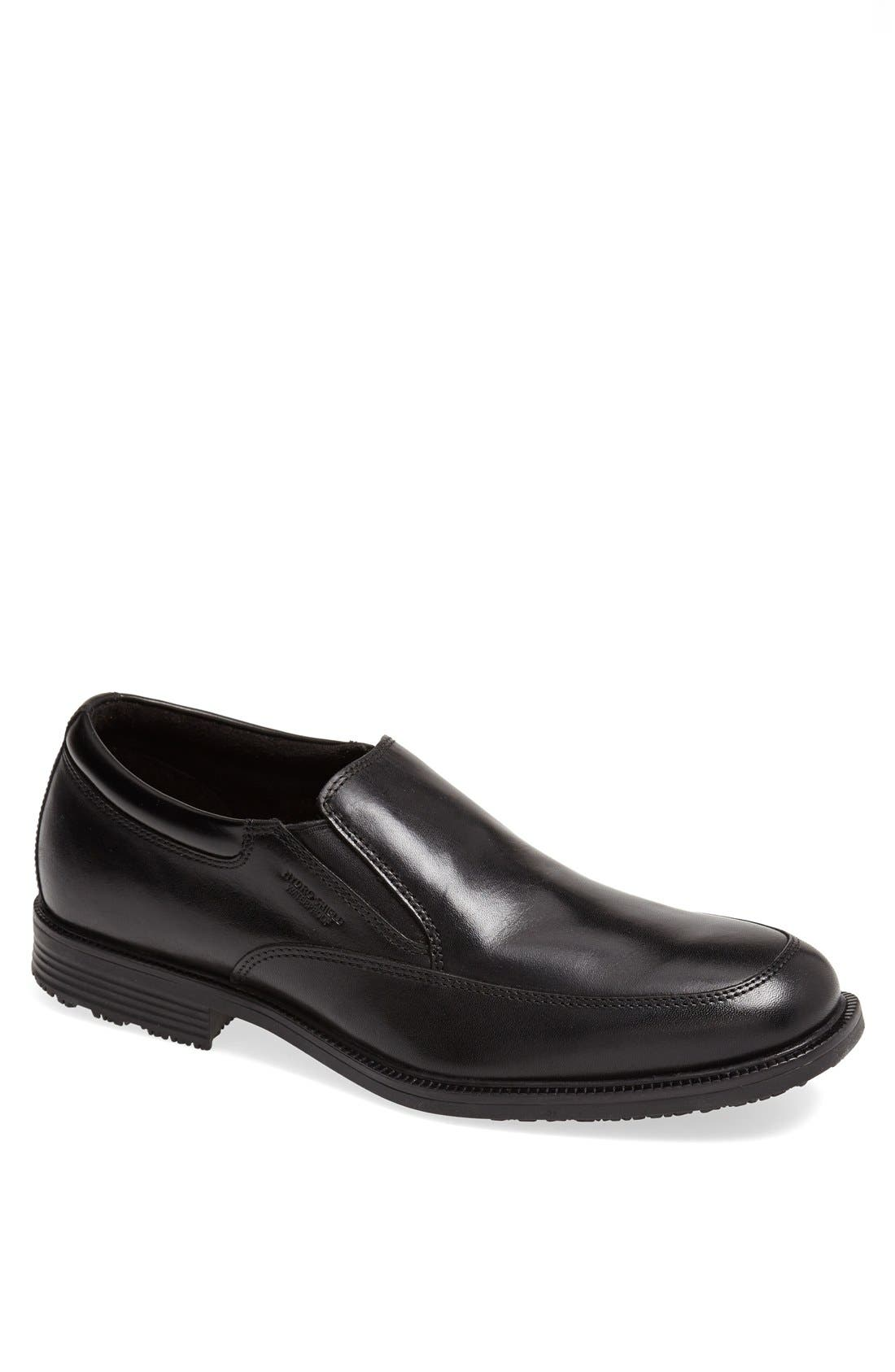 ROCKPORT, 'Essential Details' Waterproof Loafer, Main thumbnail 1, color, BLACK