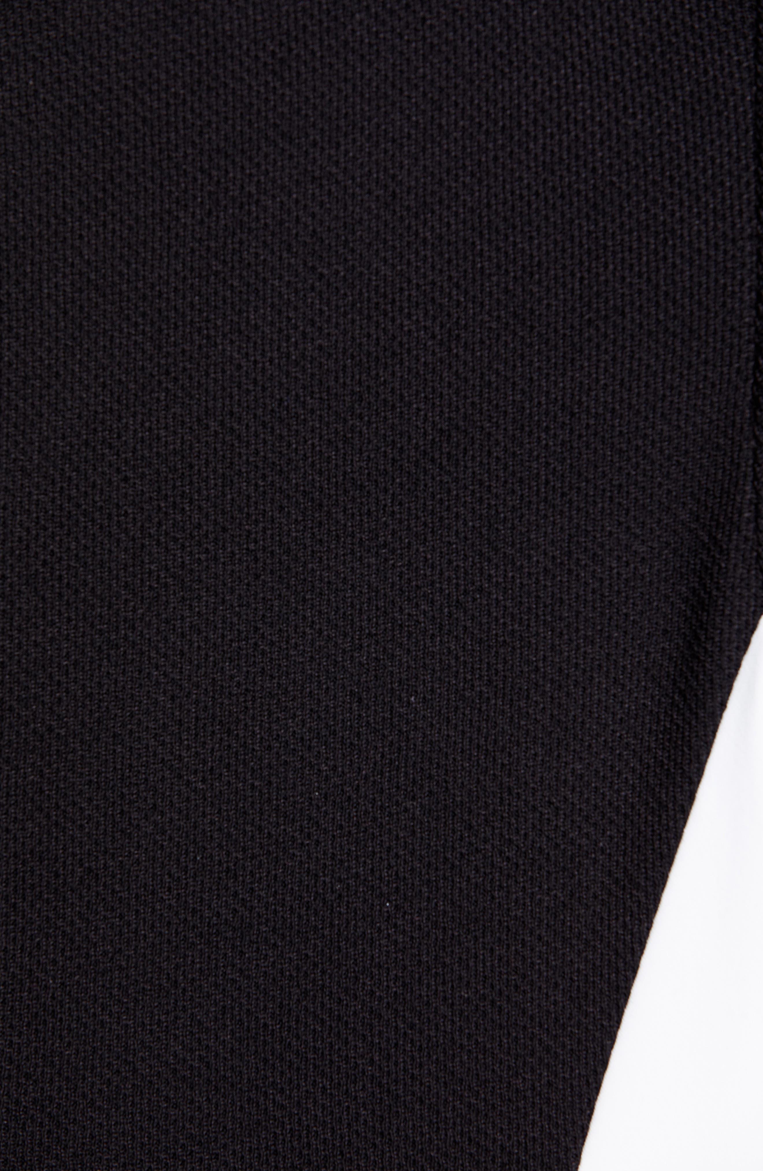 ST. JOHN COLLECTION, Piqué Milano Knit Dress, Alternate thumbnail 6, color, CAVIAR/ BIANCO