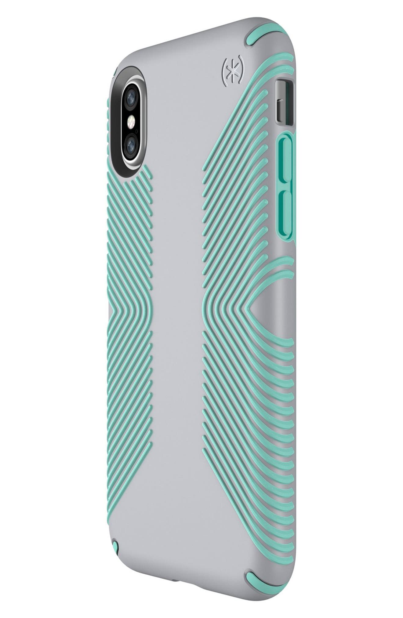 SPECK, iPhone X & Xs Case, Alternate thumbnail 5, color, DOLPHIN GREY/ ALOE GREEN