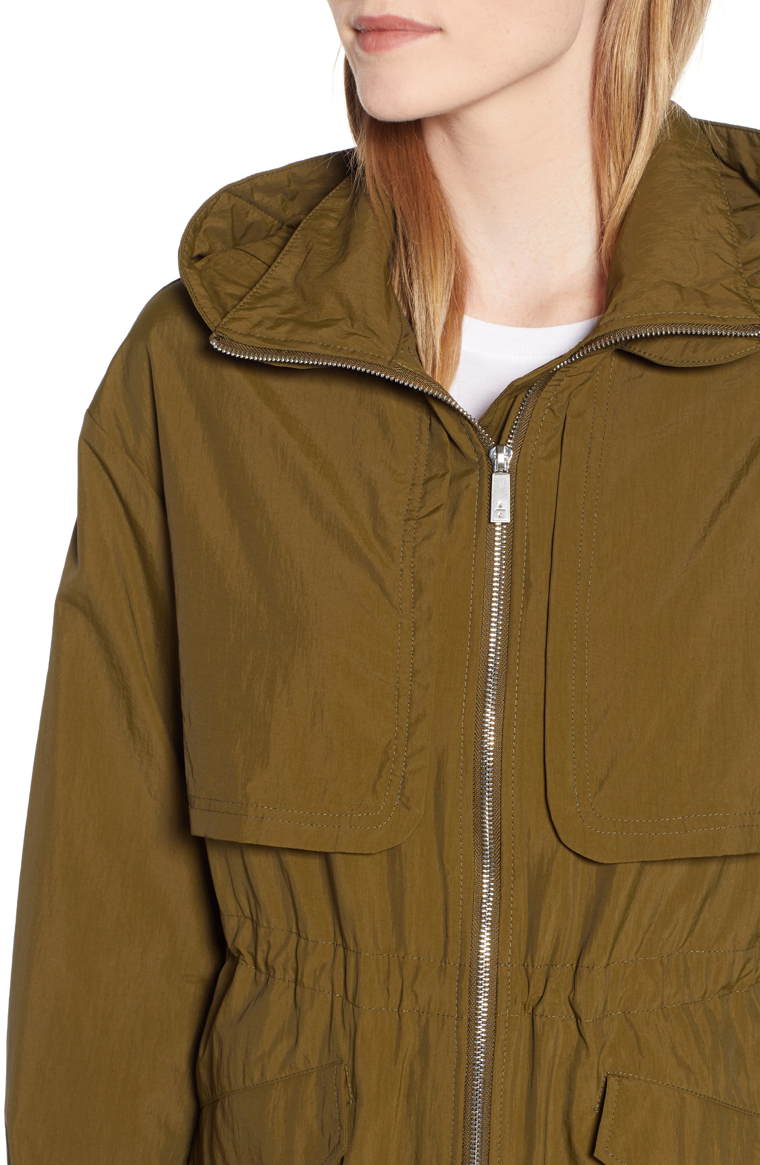 KENNETH COLE NEW YORK, Hooded Parka, Alternate thumbnail 5, color, OLIVE