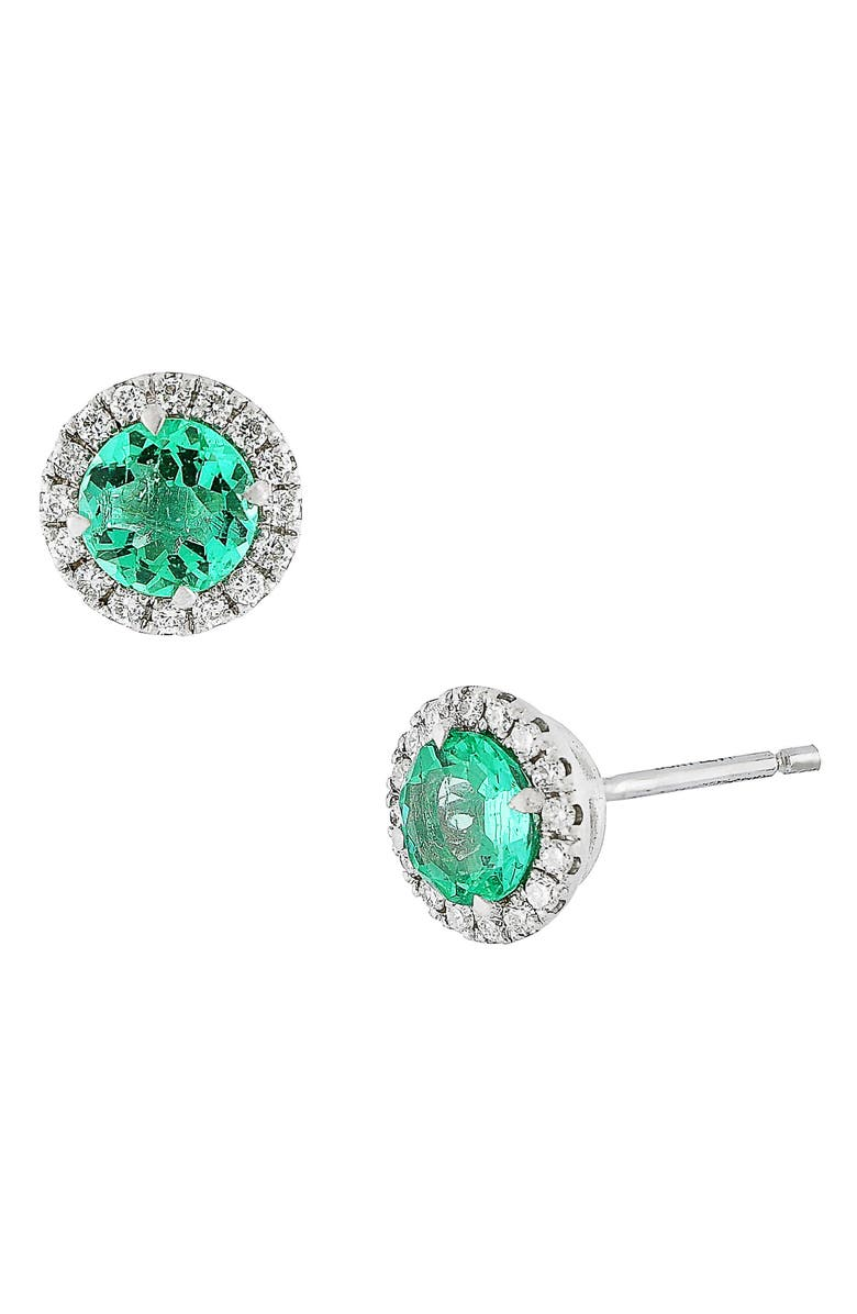 Bony Levy Diamond Emerald Stud Earrings Main Color