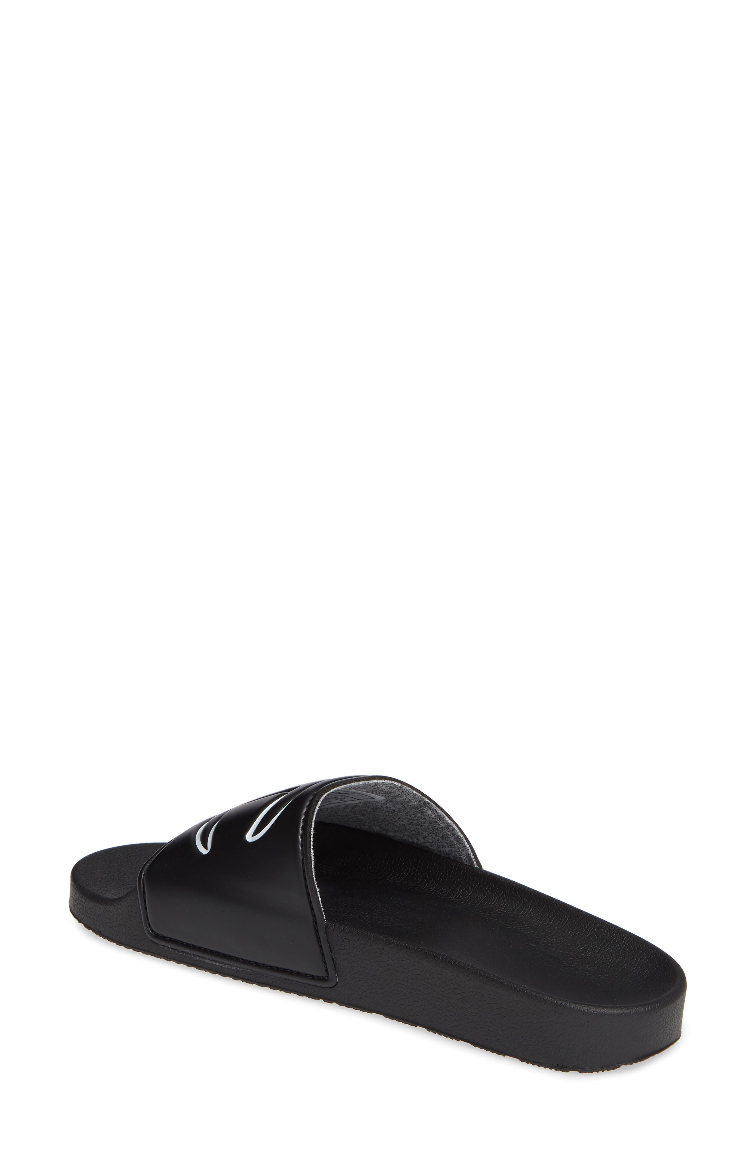 CHAMPION, Slide Sandal, Alternate thumbnail 2, color, BLACK