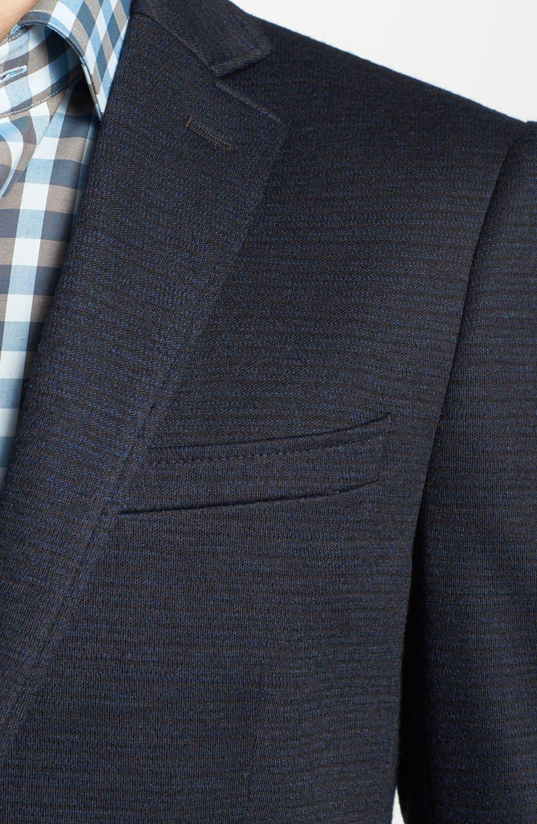 JOHN VARVATOS STAR USA, 'Fagan' Trim Fit Knit Sportcoat, Alternate thumbnail 4, color, 410