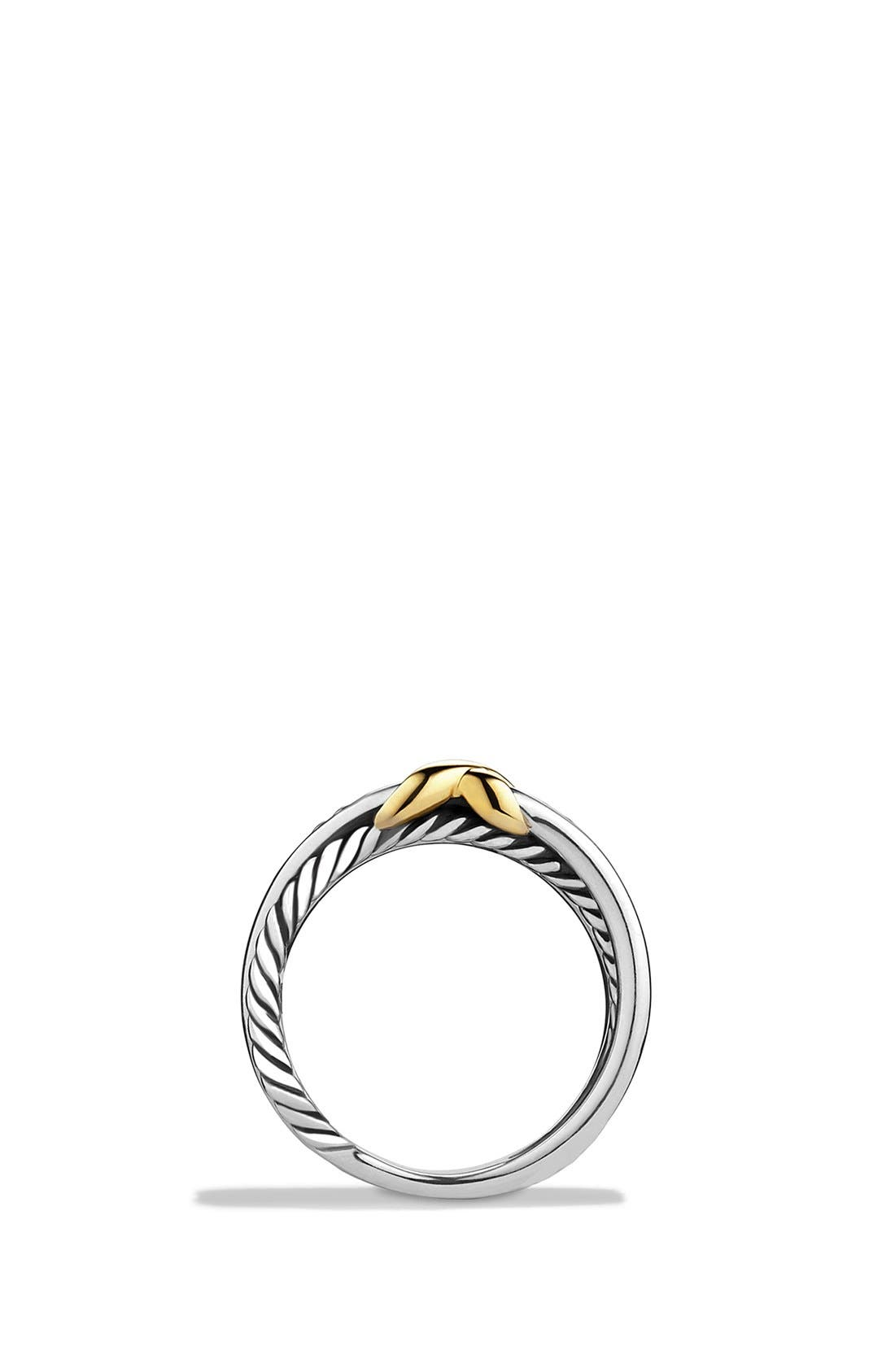 DAVID YURMAN, 'X Crossover' Ring, Alternate thumbnail 4, color, TWO TONE