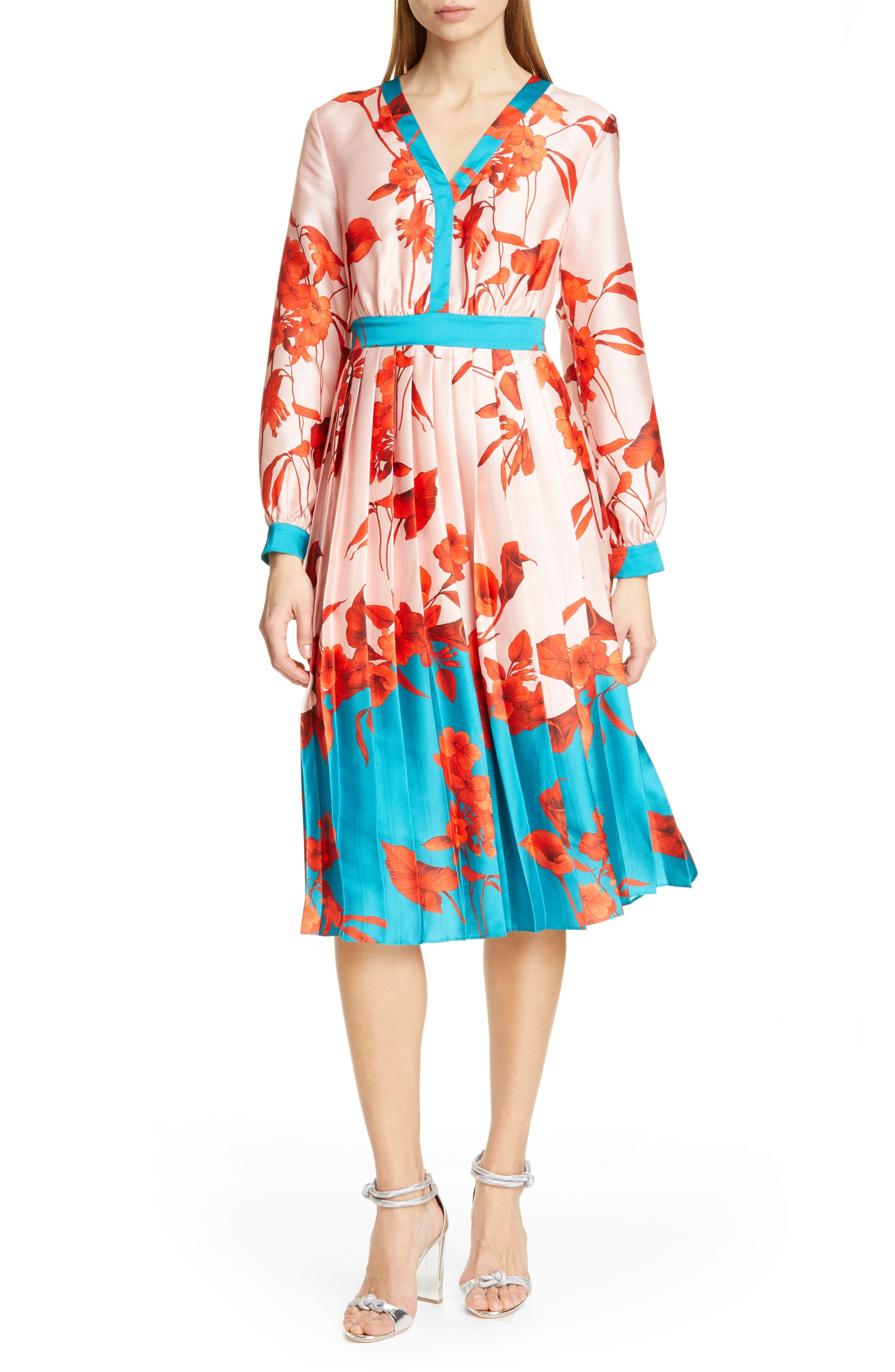 Ted Baker London Karolyn Fantasia Midi Dress, Pink